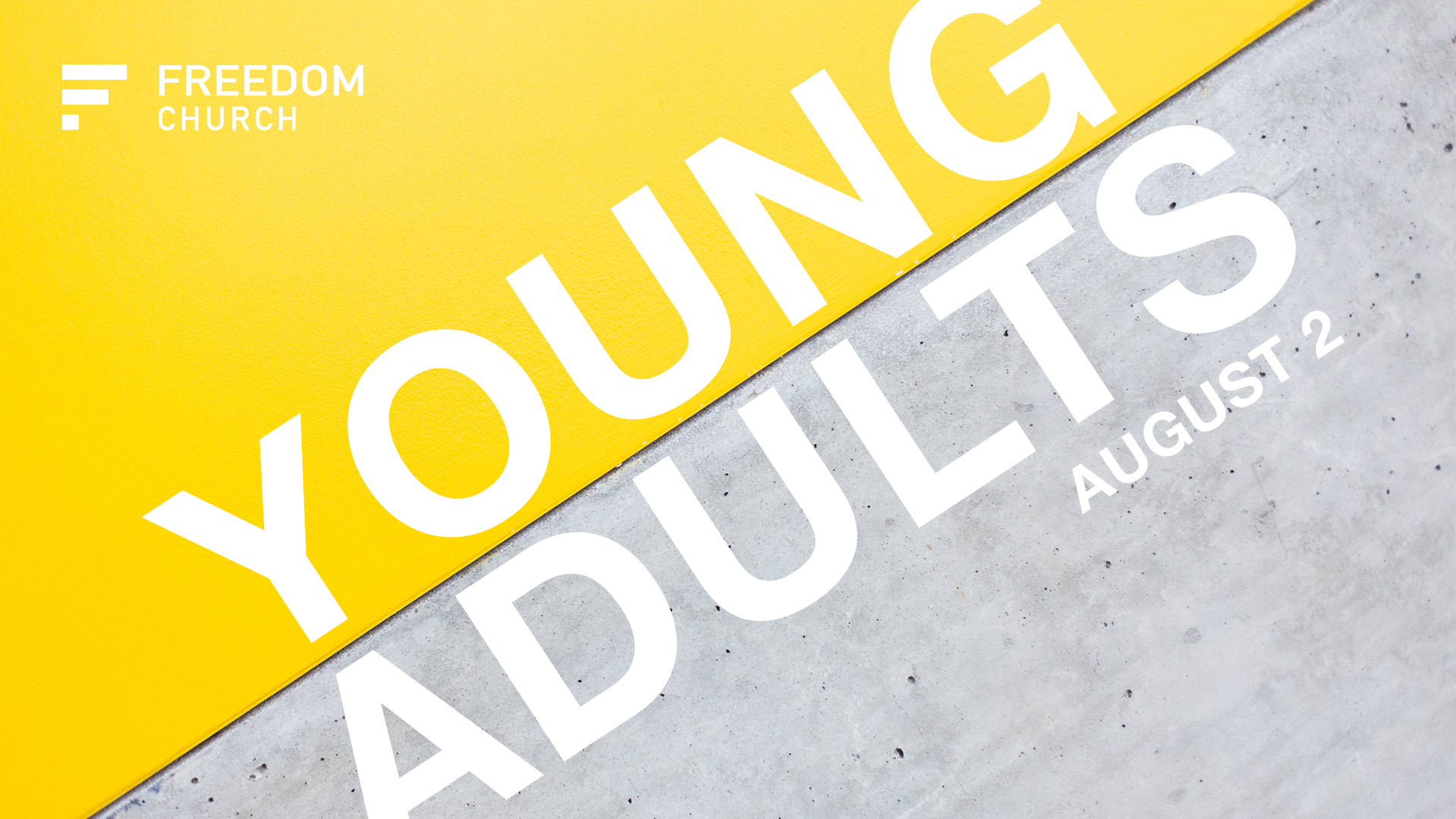 Our next Young Adults service is Thursday night, August 2nd at 7pm. If you're 18 to 30ish, come join us at Young Adults service for coffee, worship, and a word. This is a great time of community here at Freedom!