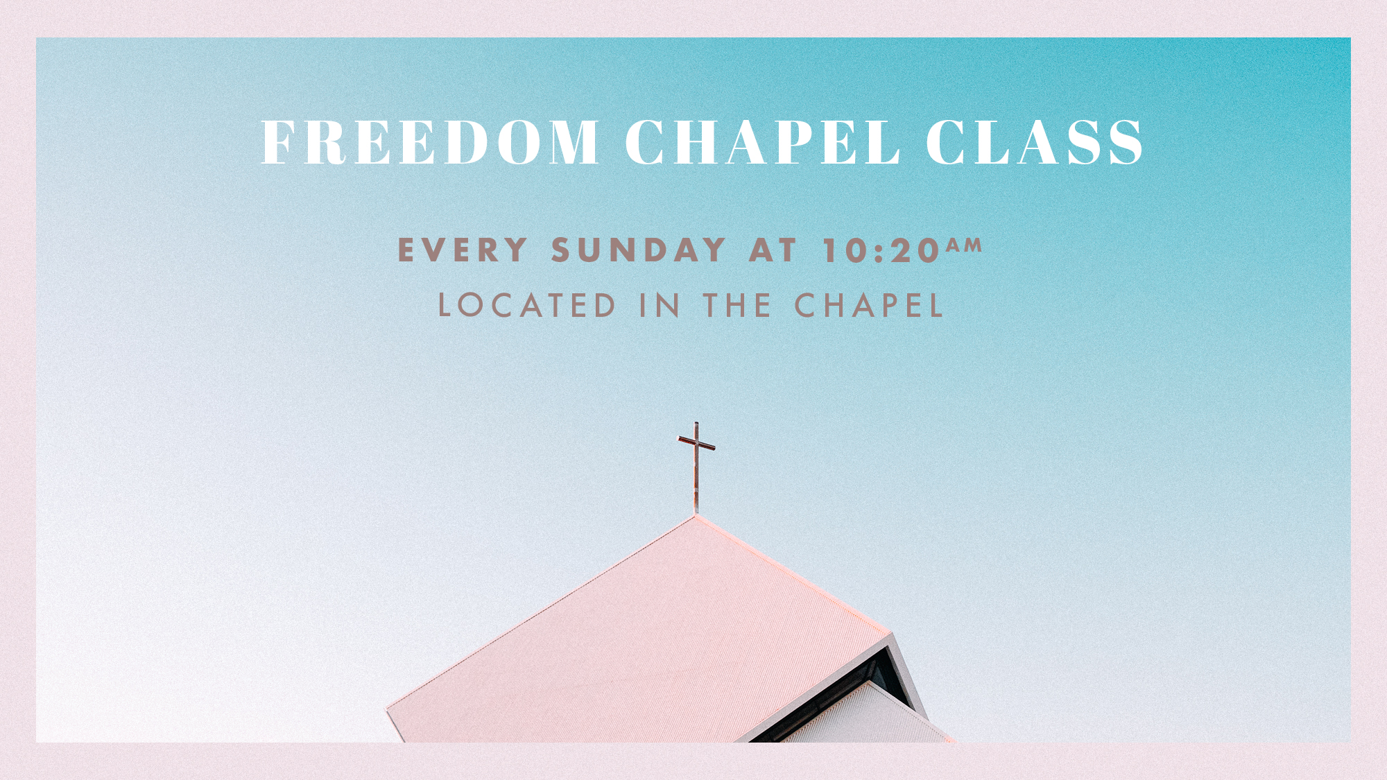 Join Richard and Sandra Shelton in the Chapel, Sunday's at 10:20am for a service with traditional hymns, prayer, and teaching. This is a great time of fellowship and community every Sunday morning.