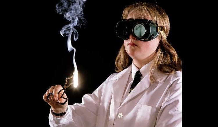 Model Released Kids Doing Science