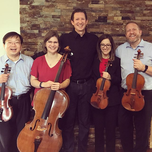 These amazing musicians, all members of the @ftworthsymphony are doing wonderful things with my new string quartet. We would love to see you at the premiere with @spectrumchambermusic  http://spectrumchambermusicsociety.com/concerts/meyn-2/  #composerlife #newmusic #stringquartet #chambermusic