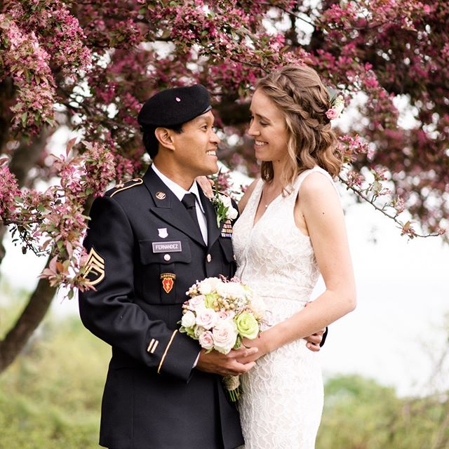 The trees were in bloom for Jocelyn and Abner's wedding this past weekend! 😍 #weddingsbyraisa  #milwaukeewedding #milwaukeeweddingphotographer #milwaukeehairstylist #milwaukeemakeupartist