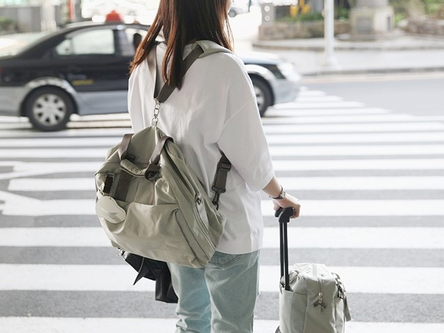 Multipurpose nylon backpack