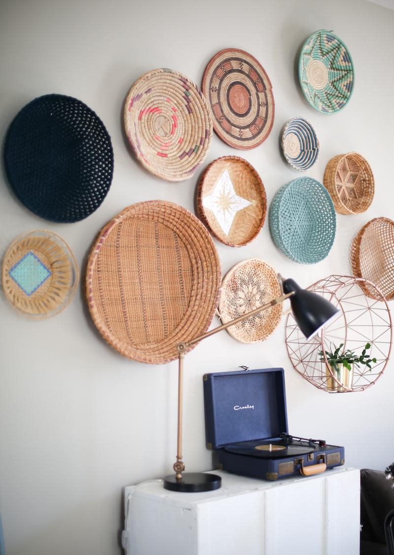 Geometric basket collage
