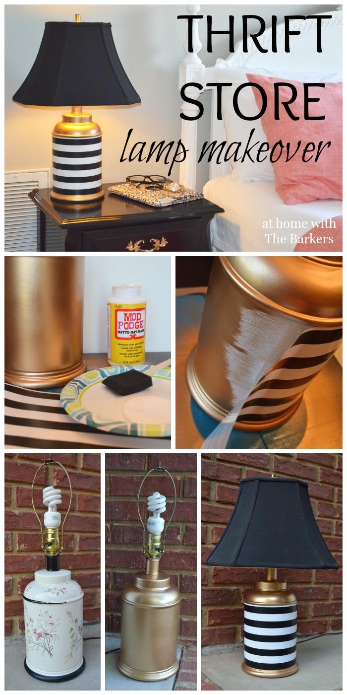 Chic striped table lamp