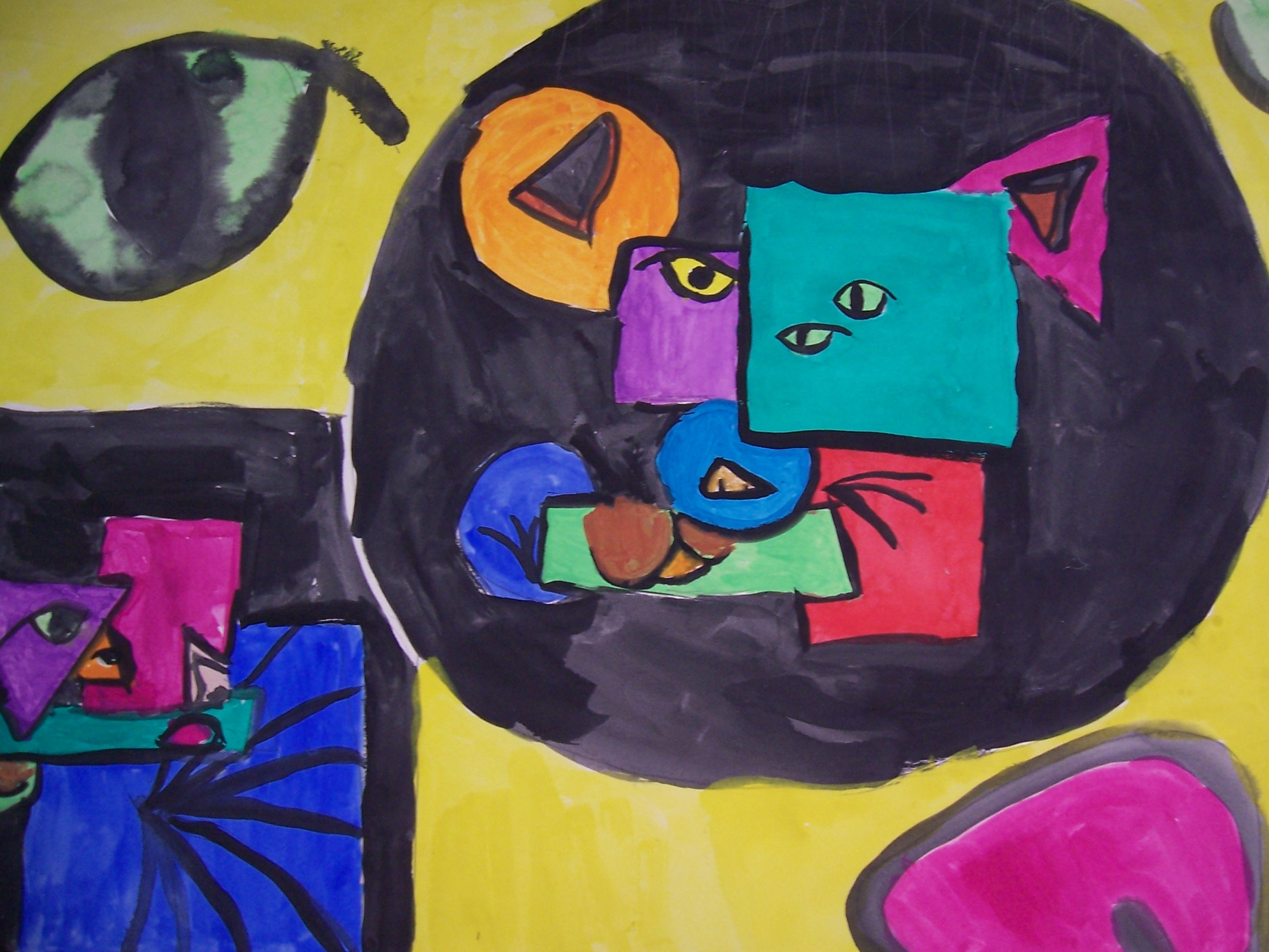 One of third-grade Bianca's Picasso-inspired masterpieces.