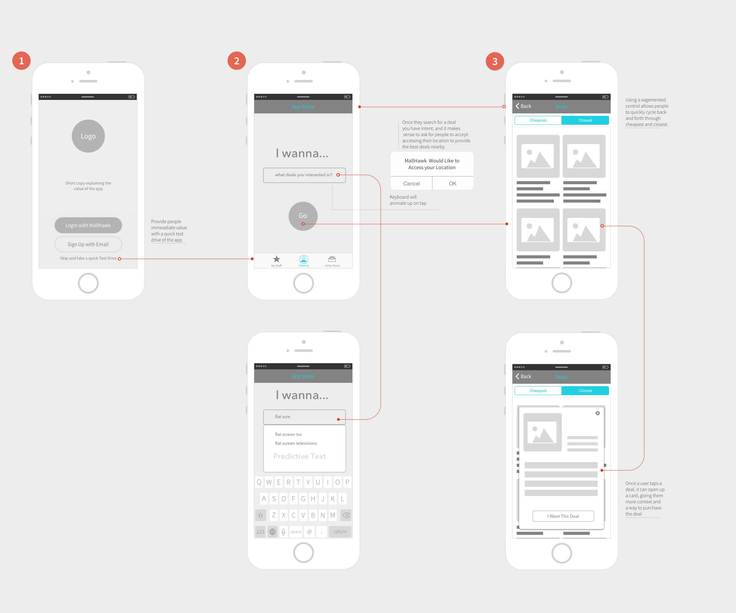 Early flow of iOS app