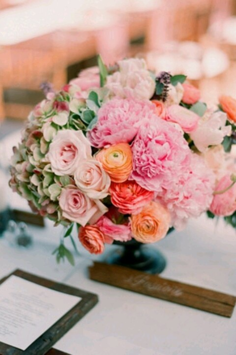 Beautiful flowers on a table