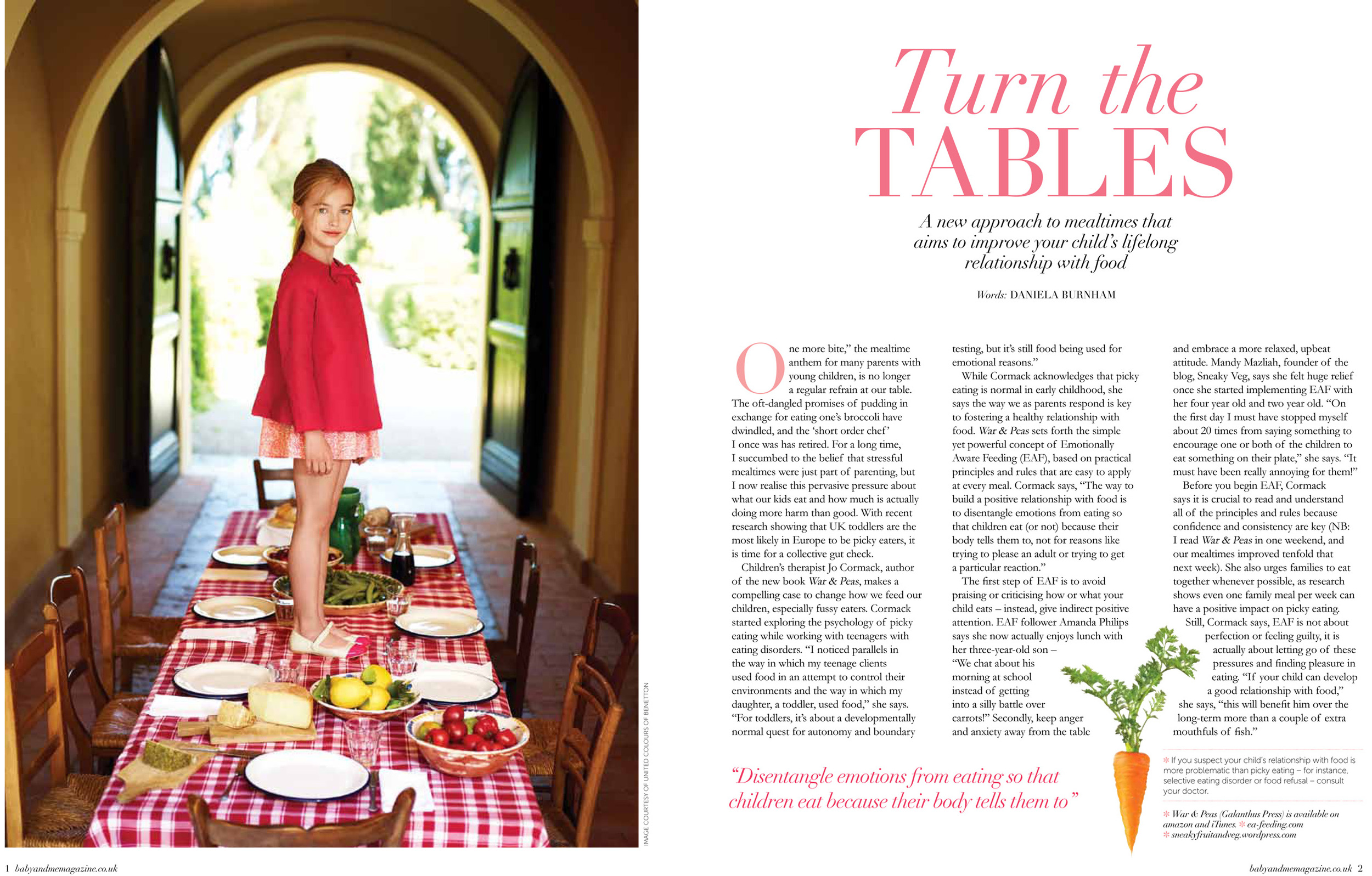 Baby and Me Magazine Feature