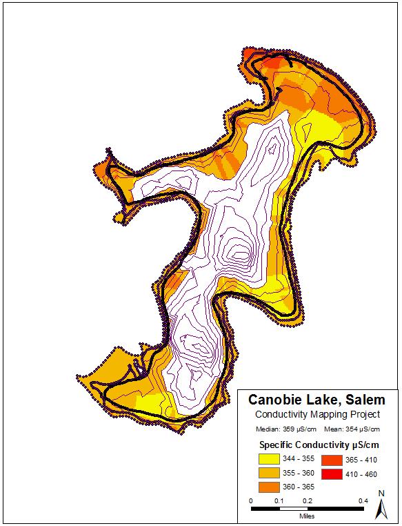 Chloride study conductivity map