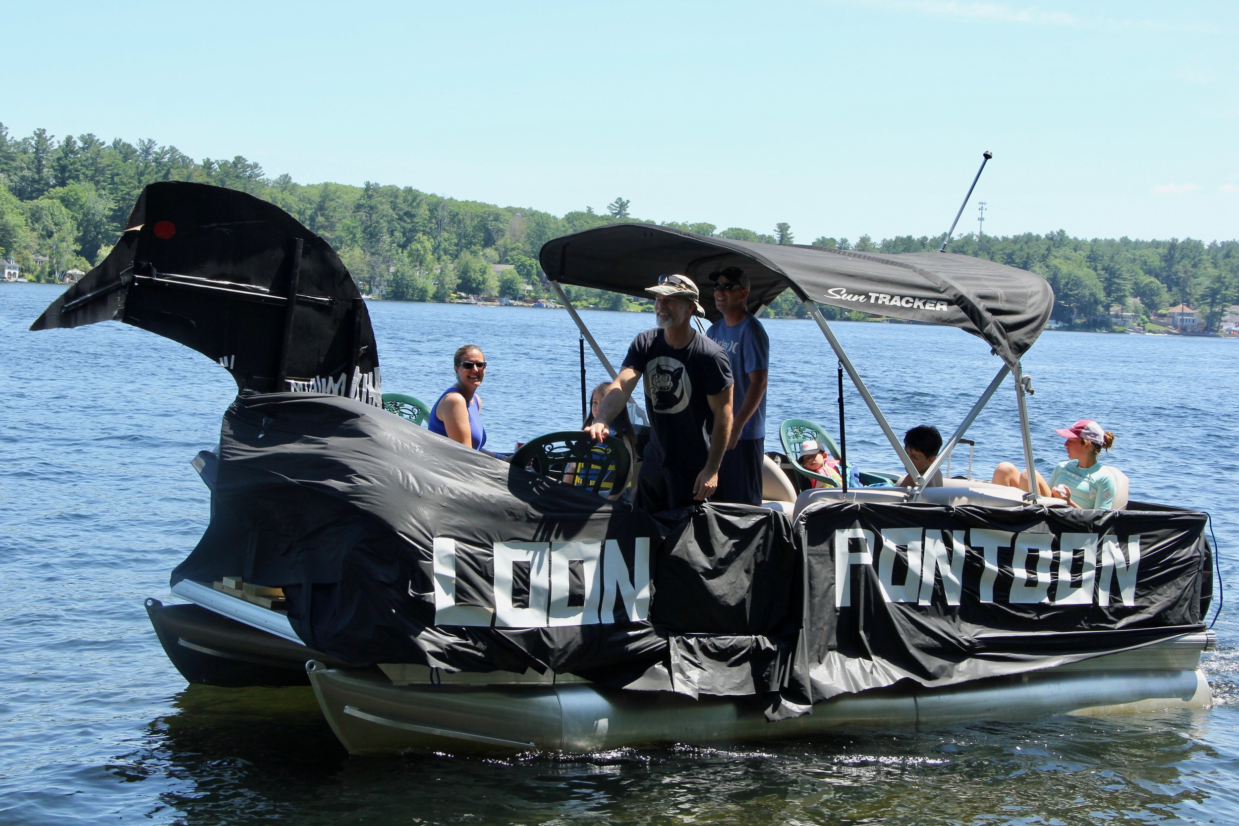 """""""Loon Pontoon""""   with The Kelly and Acker's families."""
