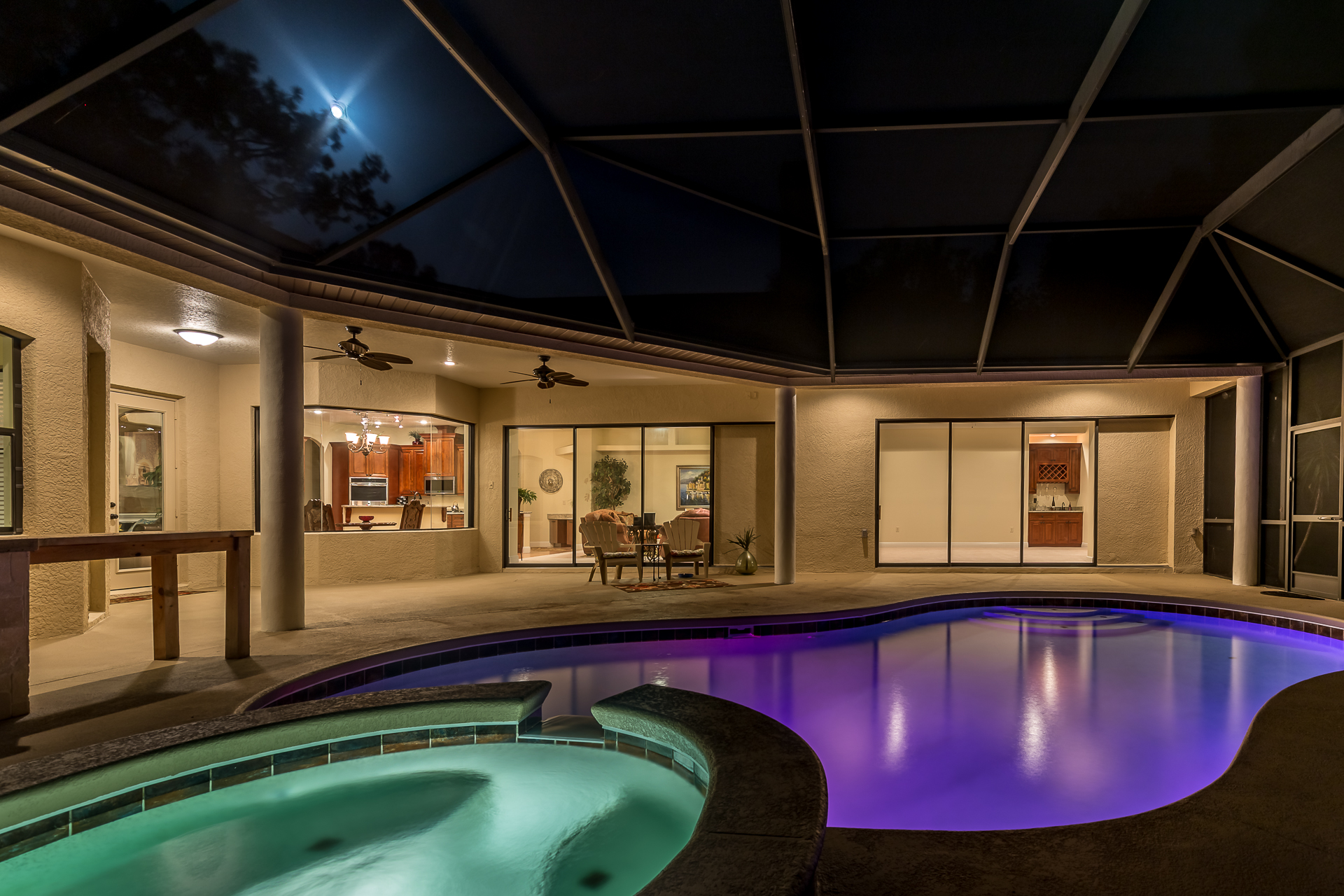 Twilight:$150+ - Make your listings unique with our signature lighting and editing techniques. Excellent way to show off pools and views. Limited availability and advance notice required.