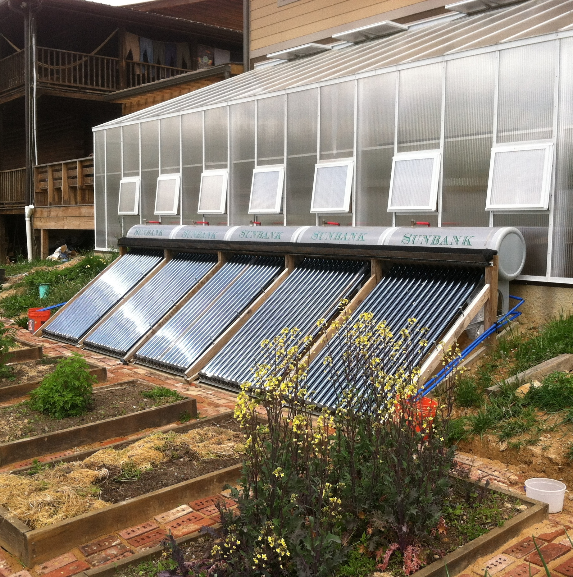 Radiant Hot Water system and Greenhouse