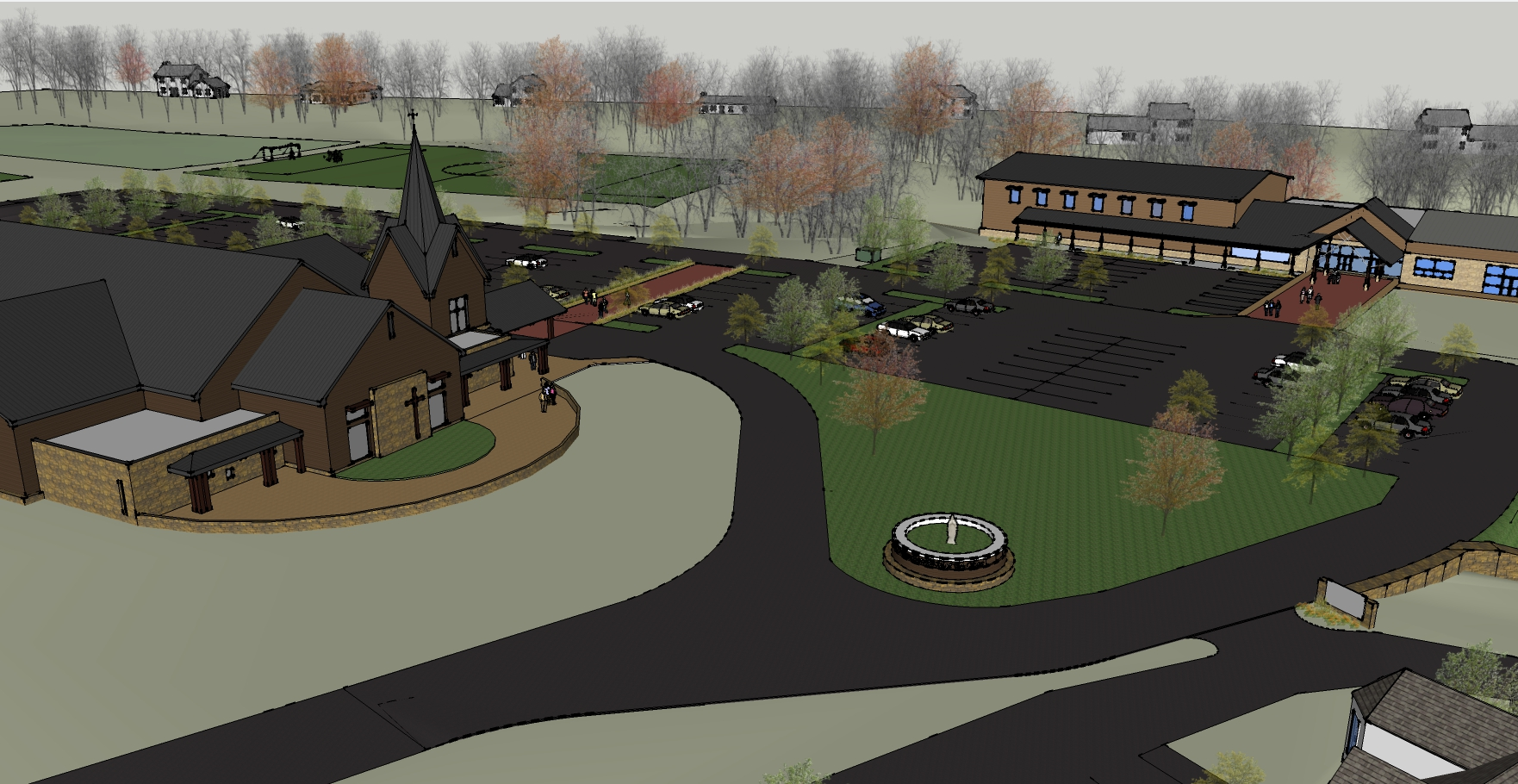 Proposed Campus Plan with new Church and PCC Addition