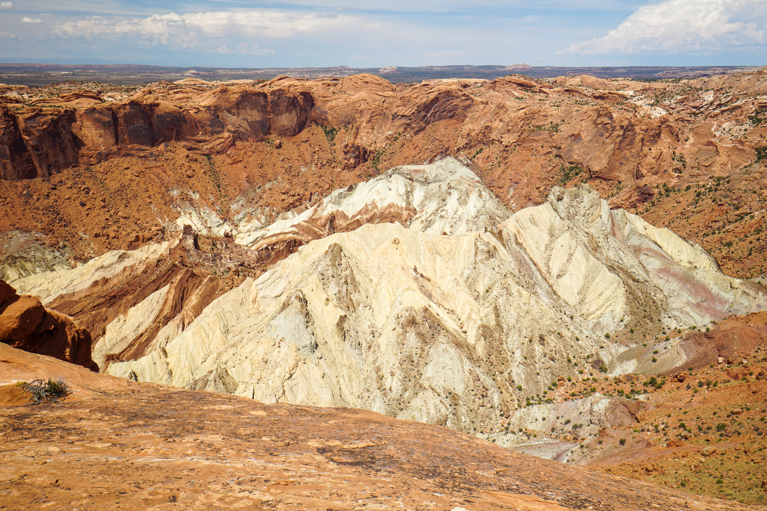 Upheaval Dome - scientists still can't determine what caused the giant salt deposite