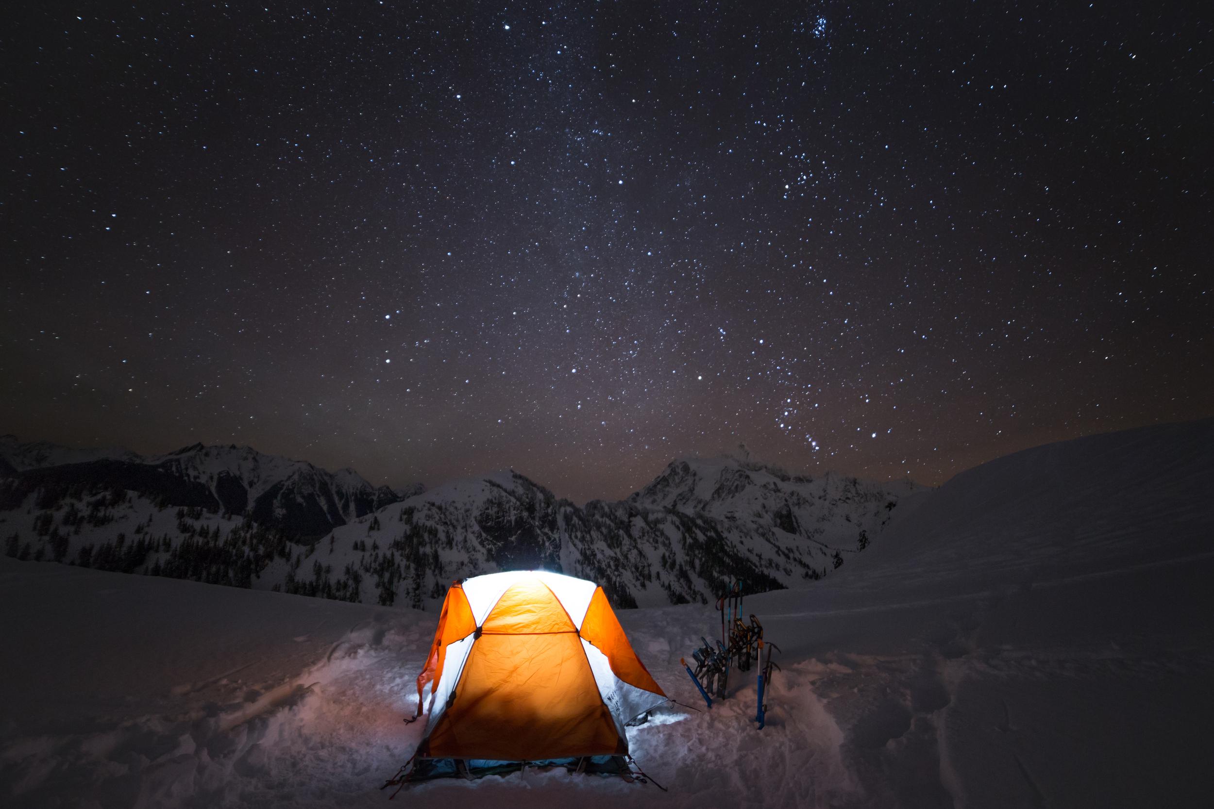 the national parks girl_mt baker_winter hike_snowshoe_north cascades_mountain hardwear_tangent2_artist point_long exposure_night photography.JPG