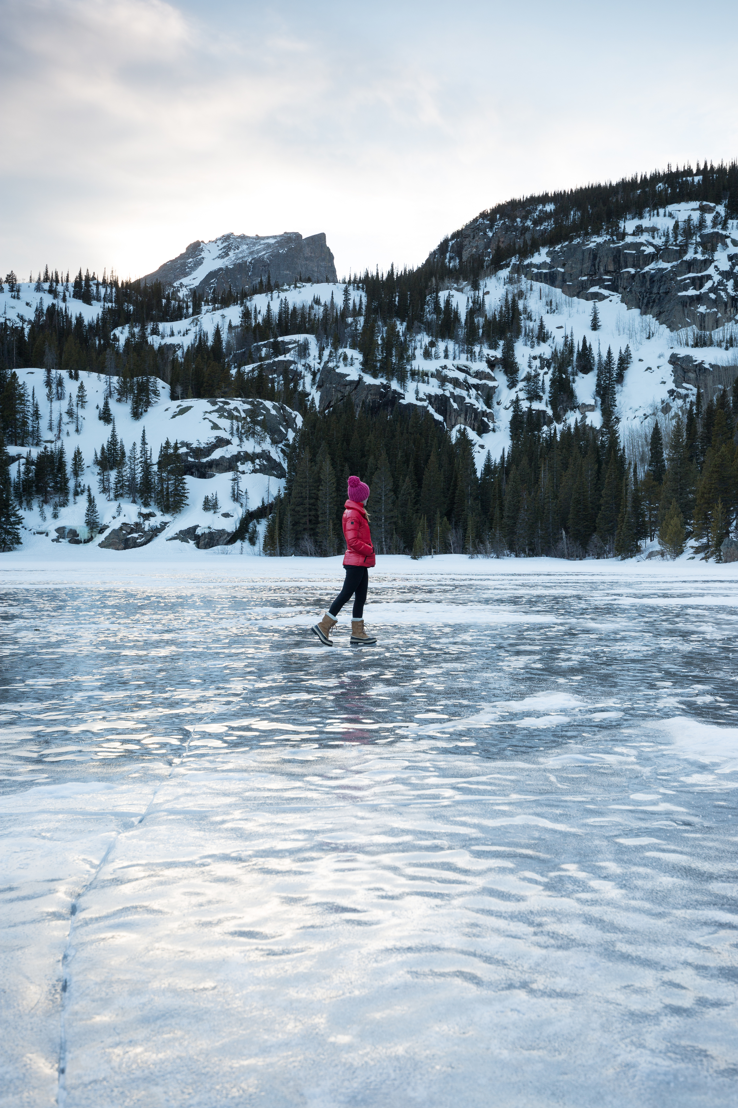 the national parks girl_bear lake_rocky mountain national park_canon6d_winter hike_colorado.JPG