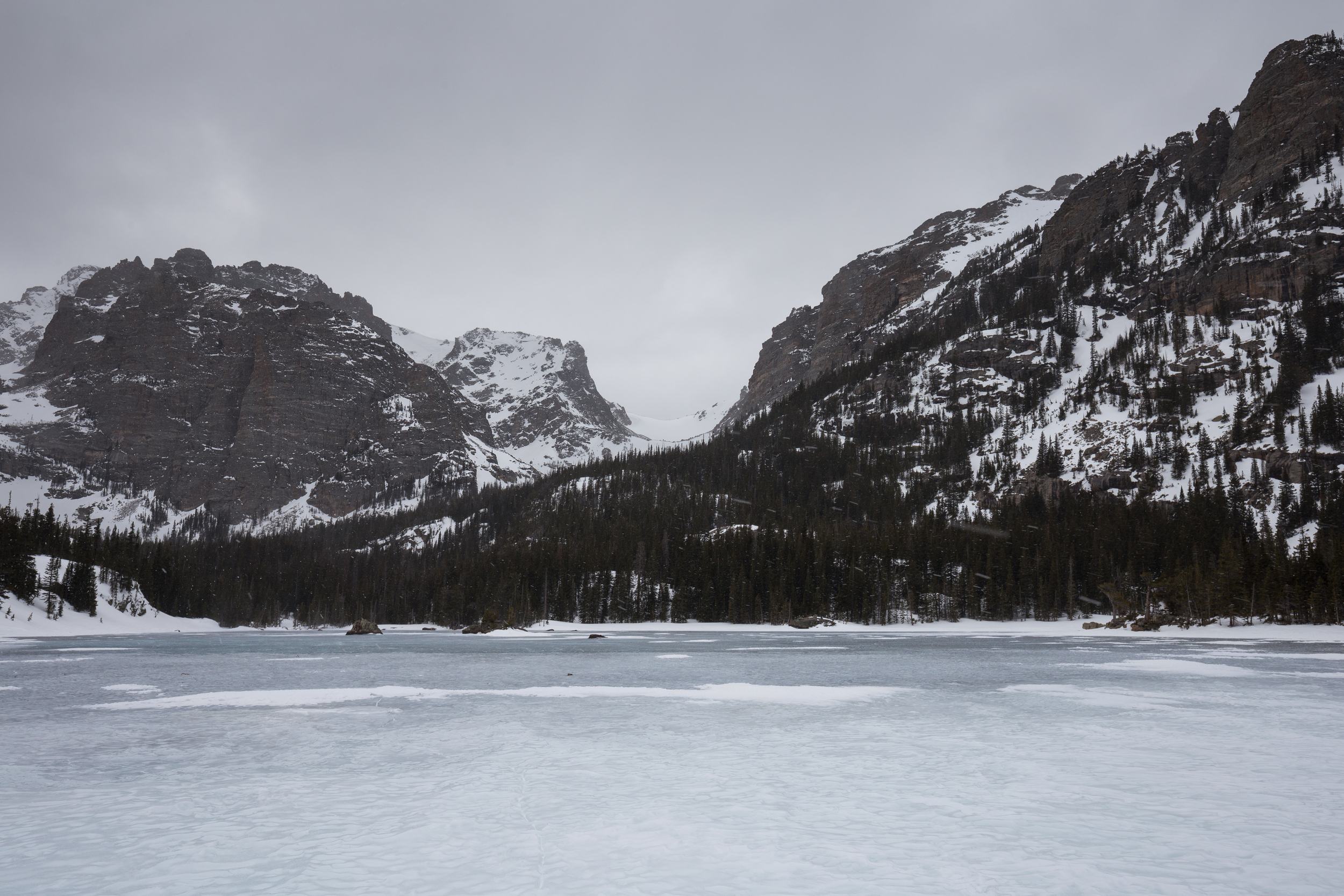 the national parks girl_loch vale_winter hike_rocky mountain national park_colorado_canon6d.JPG