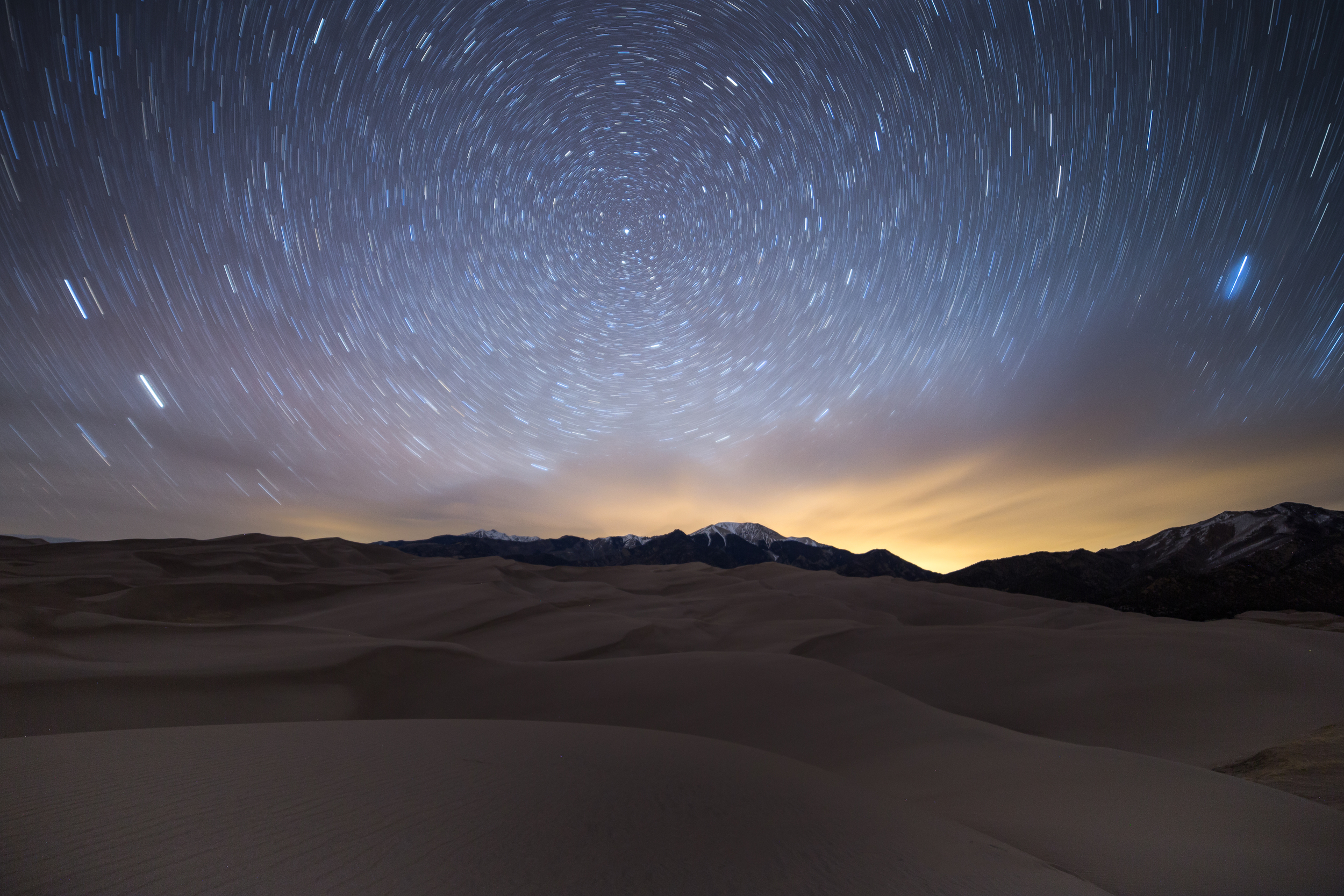 """Canon 6d, Rokinon 14mm, f/2.8, ISO 640, 916"""". Great Sand Dunes National Park, 3/8/16, 2:00am."""