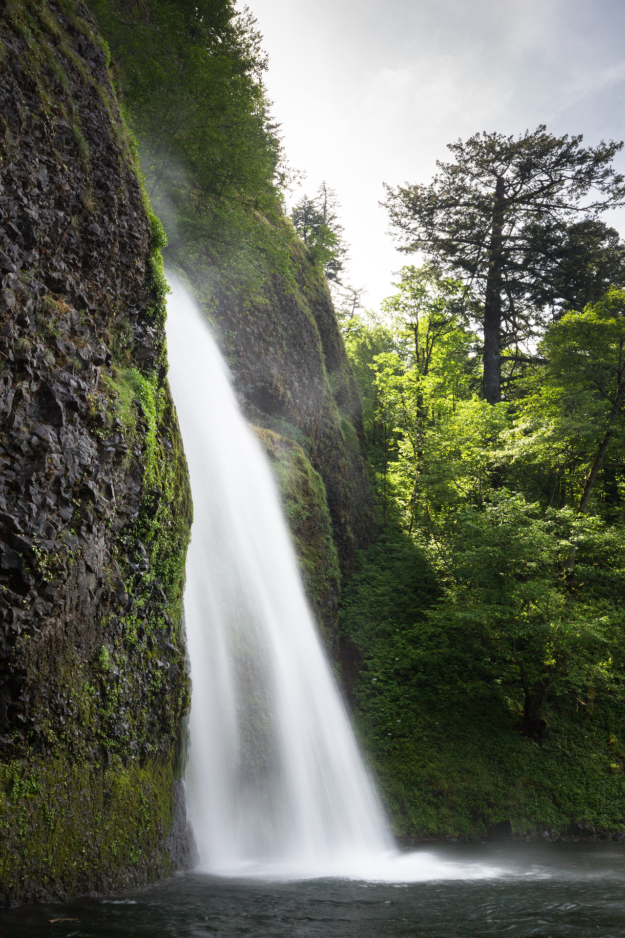 the national parks girl_Horsetail Falls_Oregon_Mt Hood_waterfall_long exposure_forest_canon.JPG
