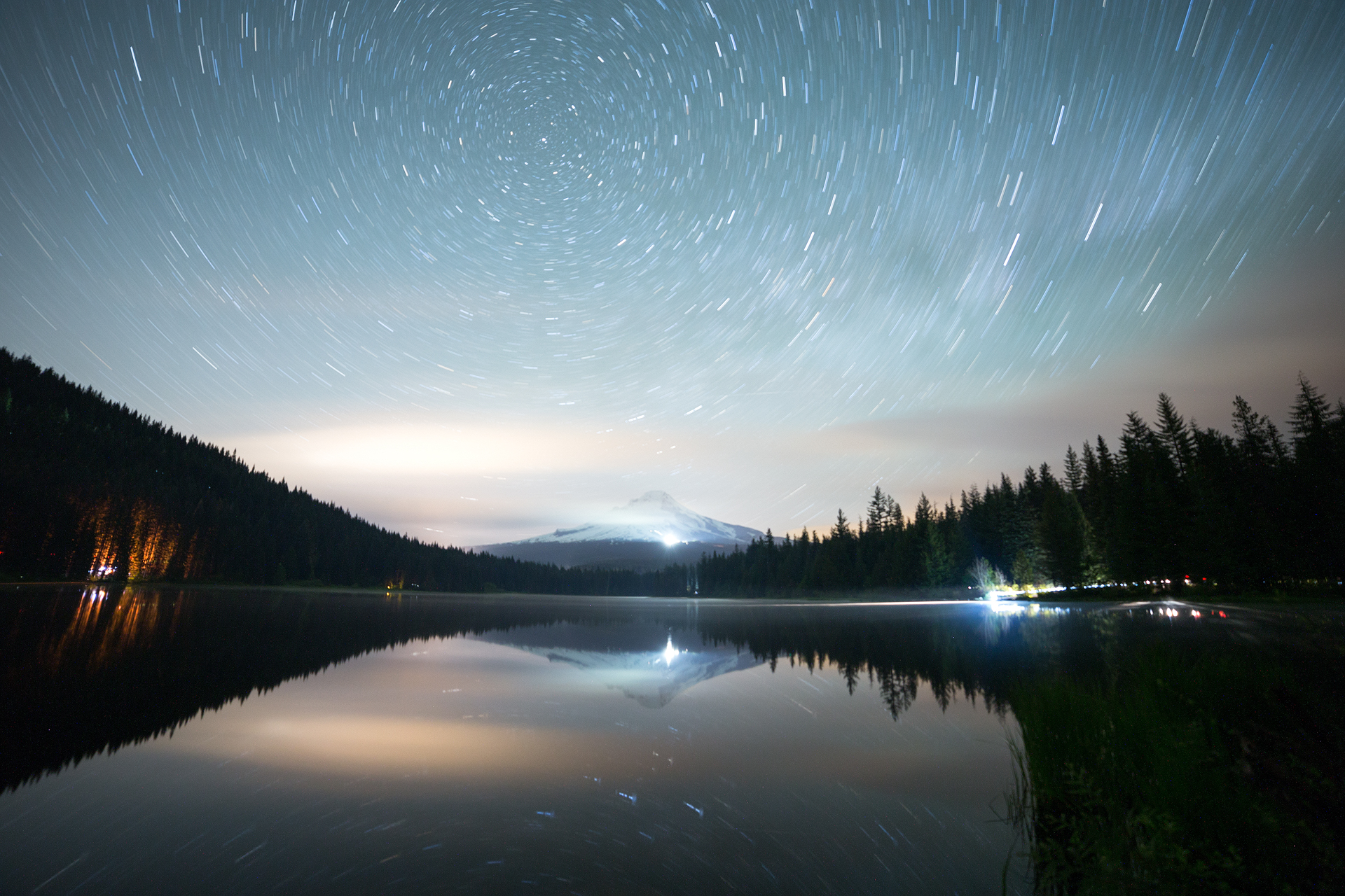 the national parks girl_oregon_mt hood_trillium lake_canon_night photography_long exposure_star trails_national forest.JPG