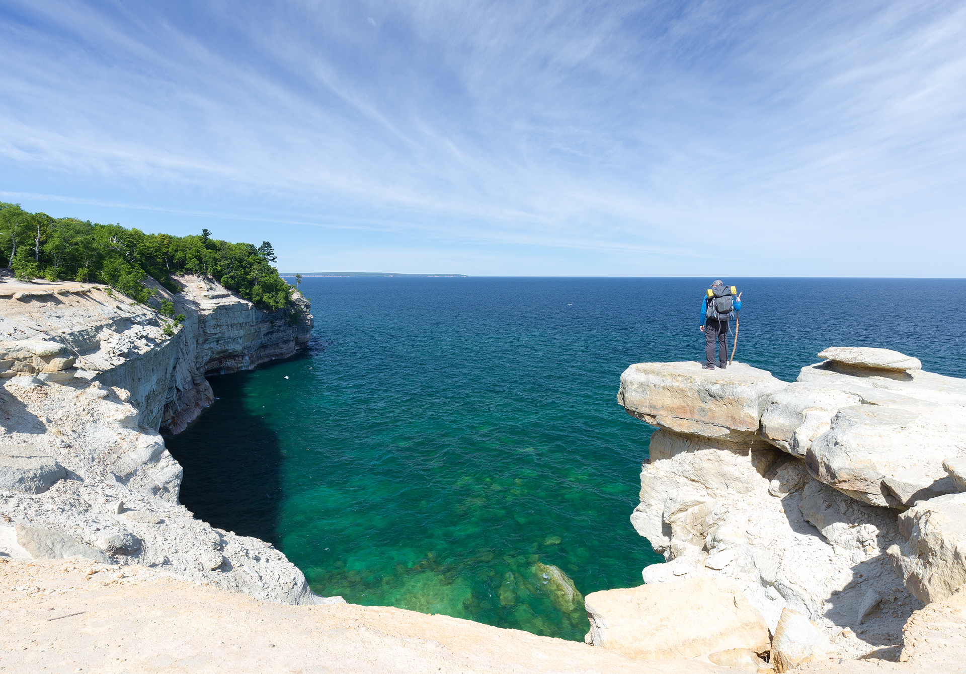 the national parks girl_pictured rocks national lakeshore_chapel loop_beaver creek_canon6d-14.jpg