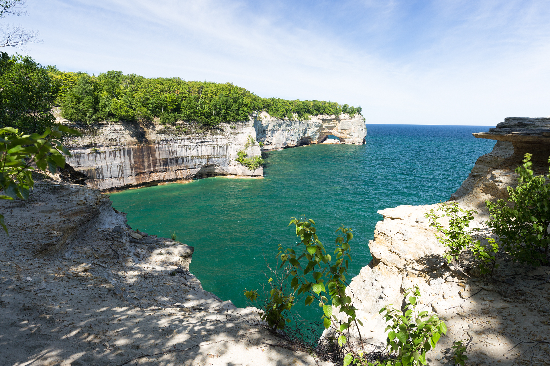 the national parks girl_pictured rocks national lakeshore_chapel loop_beaver creek_canon6d-17.jpg