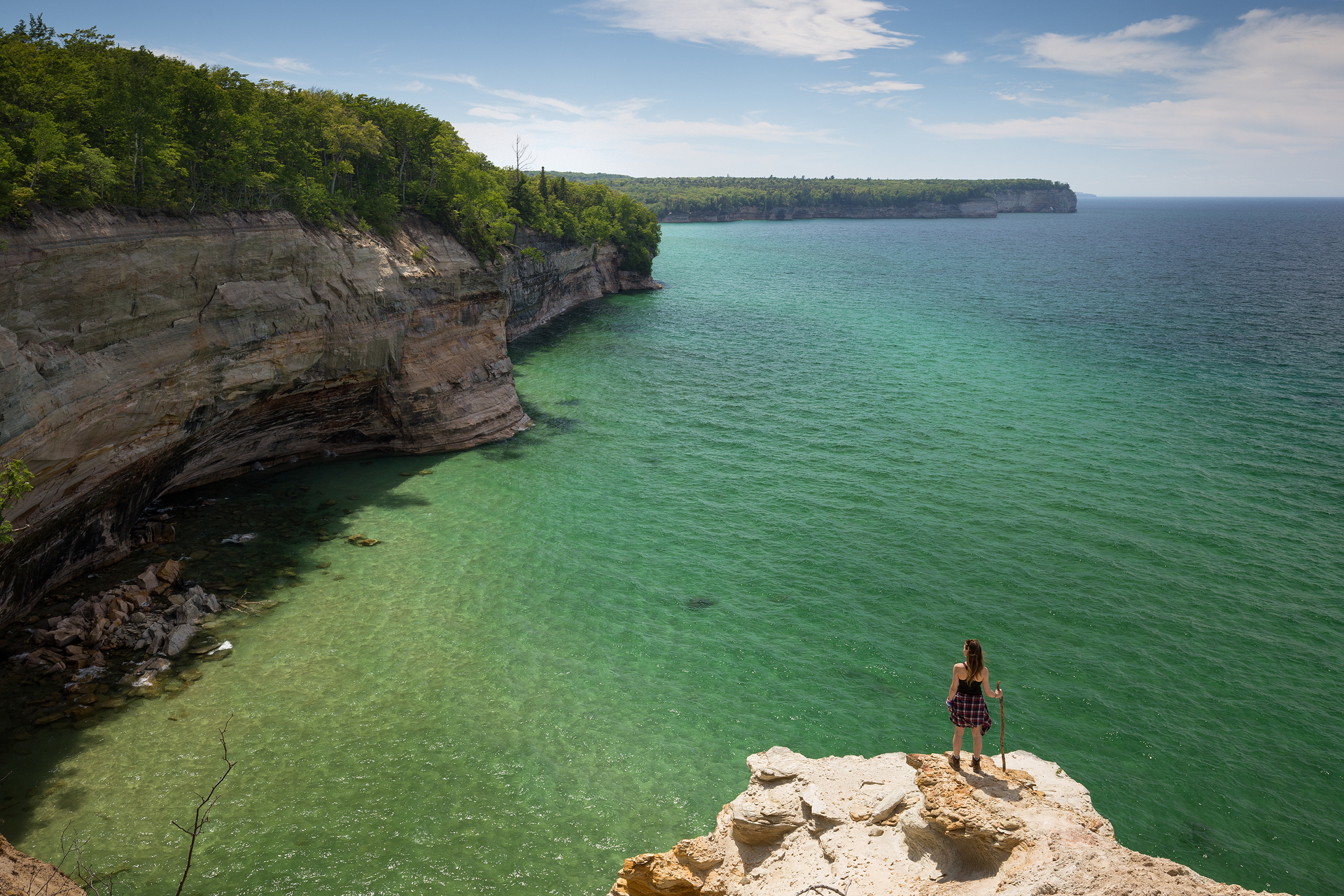 the national parks girl_pictured rocks national lakeshore_chapel loop_beaver creek_canon6d-46.jpg