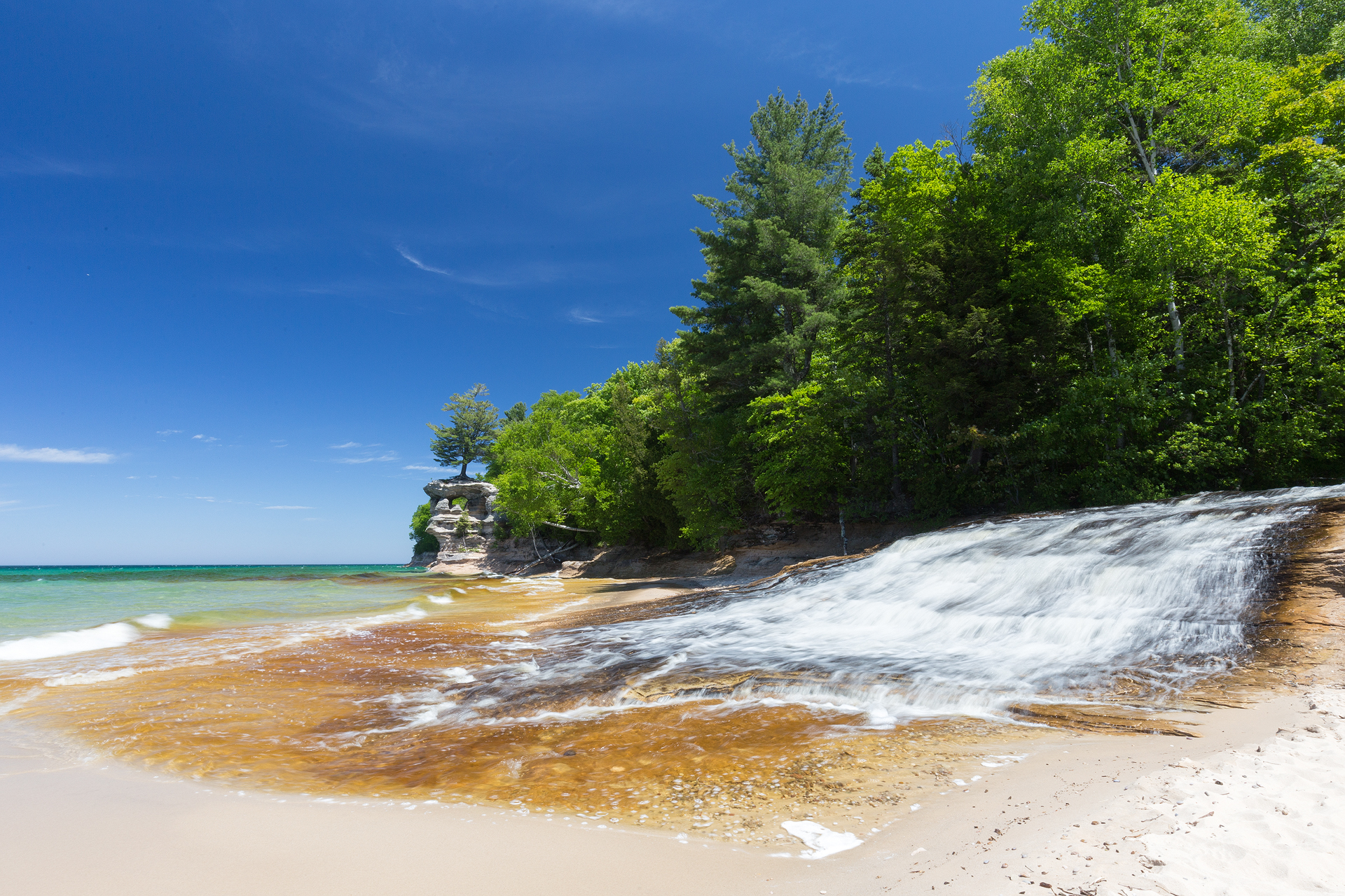the national parks girl_pictured rocks national lakeshore_chapel loop_beaver creek_canon6d-54.jpg