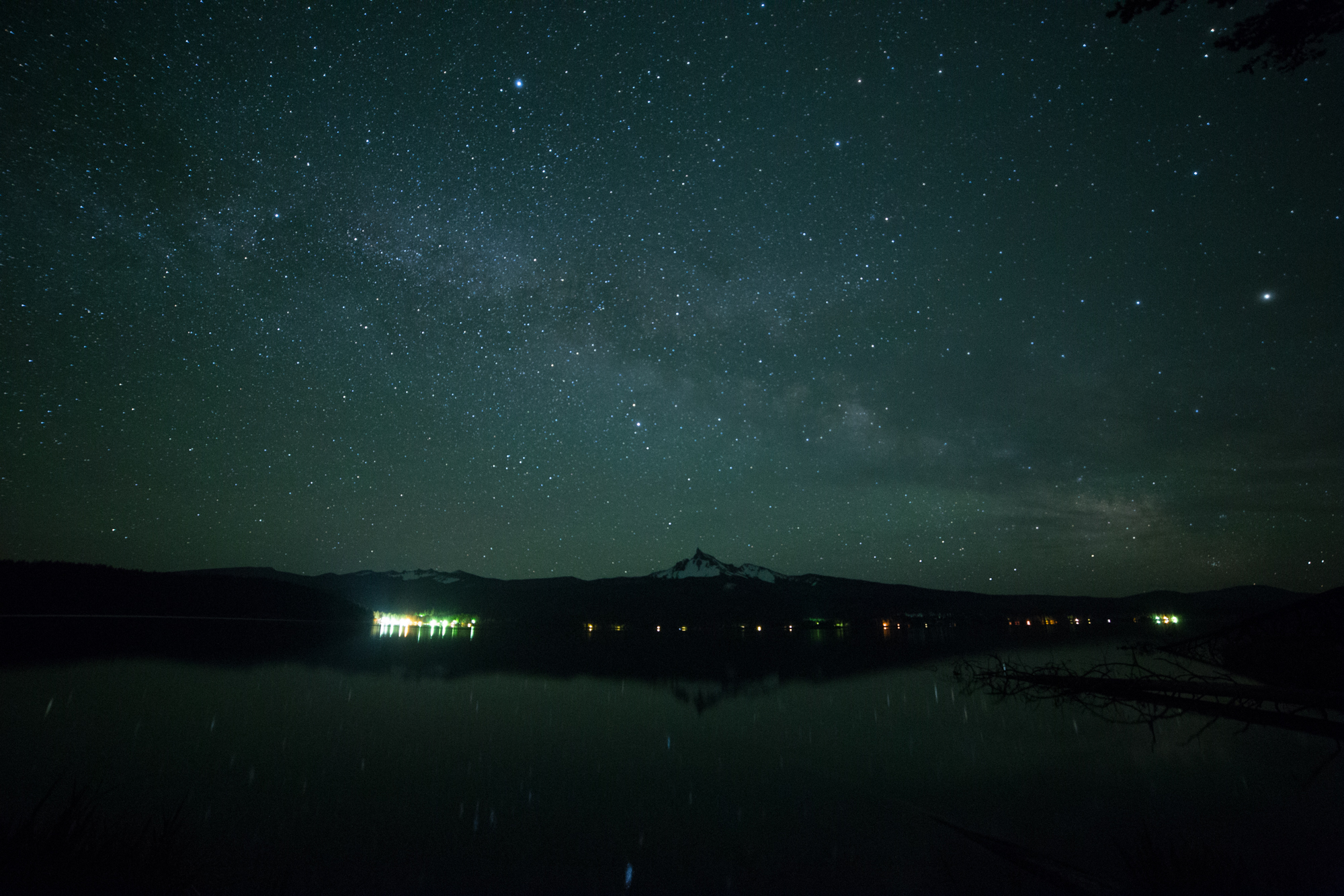 "f/2.8, ISO 6400, 20"", Diamond Lake, Oregon, 5/29/16, 12:00am. Unedited."