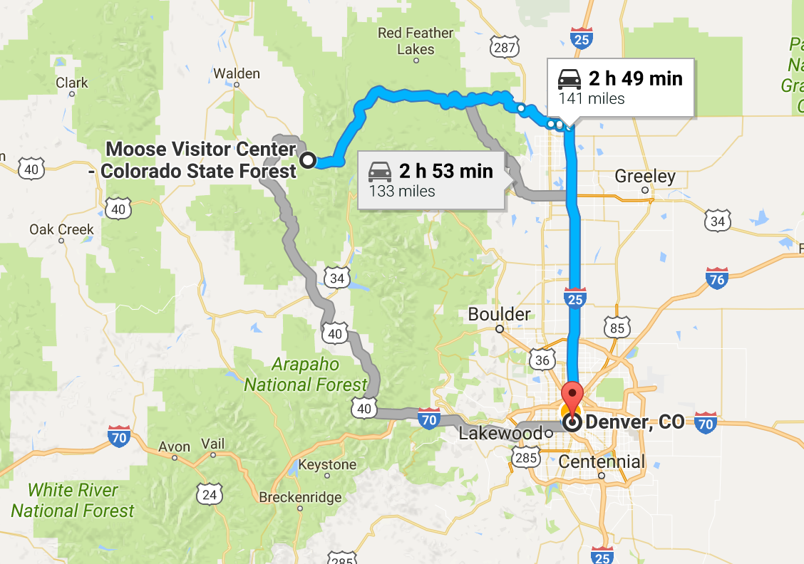 For Google directions to the visitor center, click  HERE