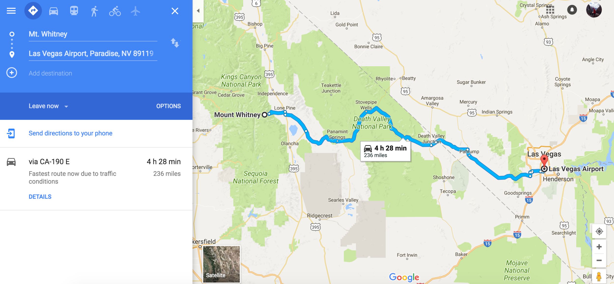 For Google directions click  HERE .