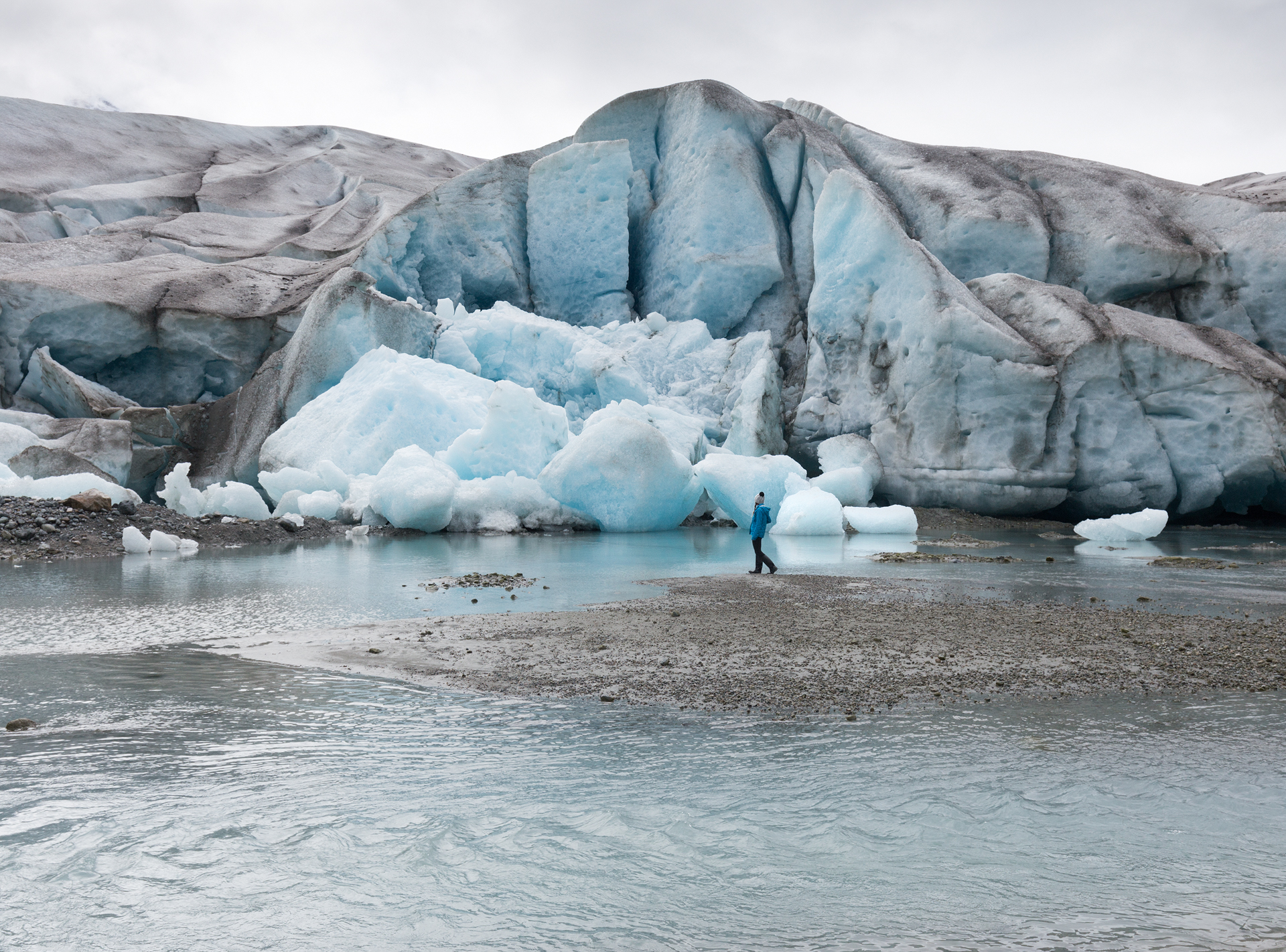 Exploring Reid Glacier at low tide