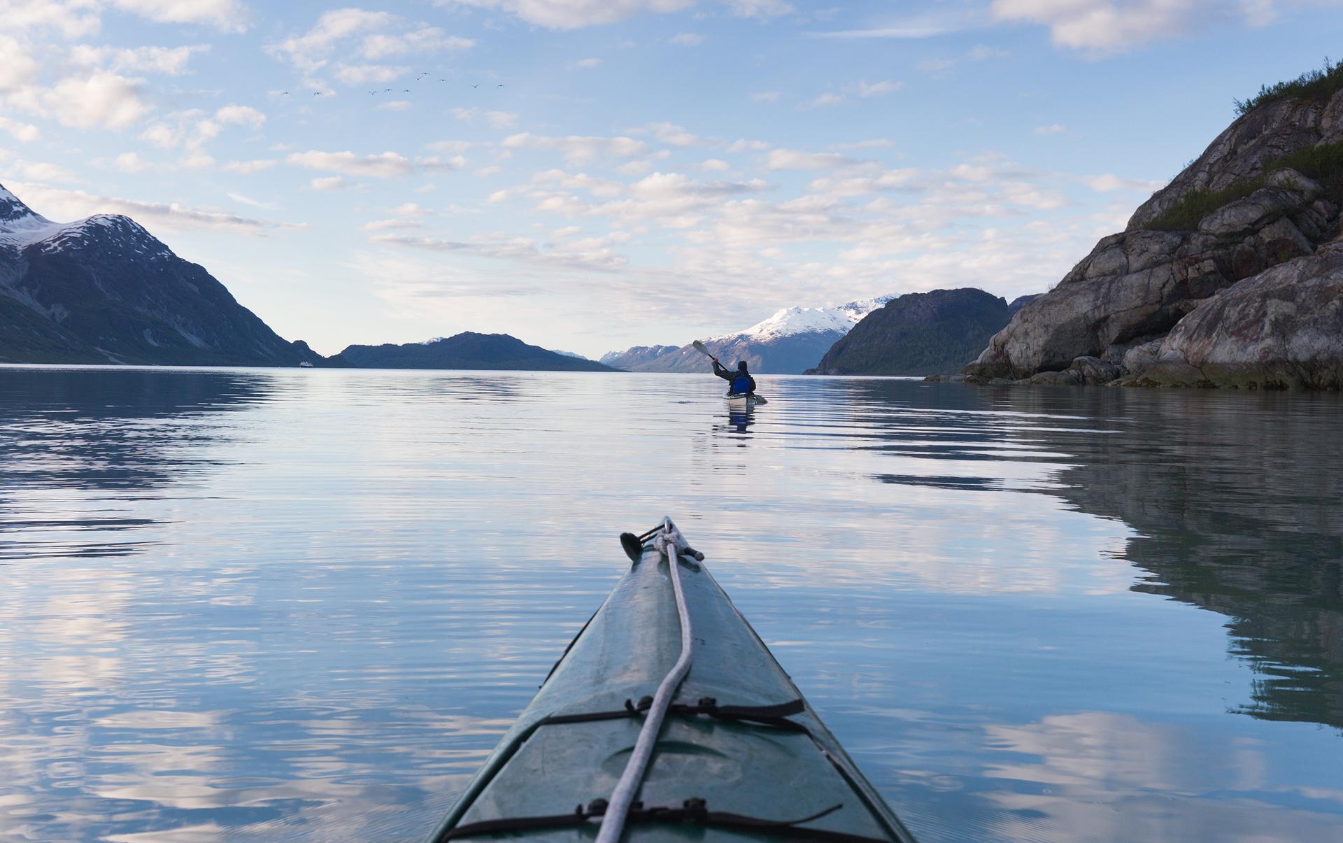 Paddling down the Tarr Inlet at ~6am