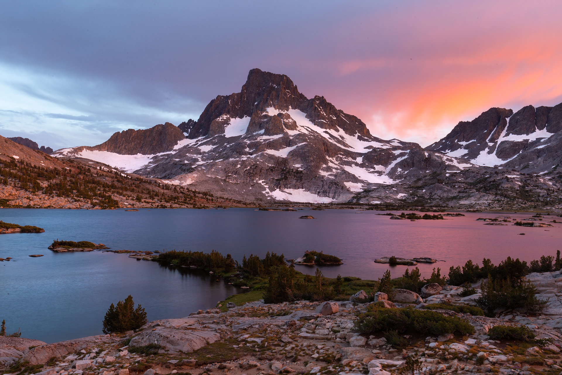 Sunset on Thousand Island Lake