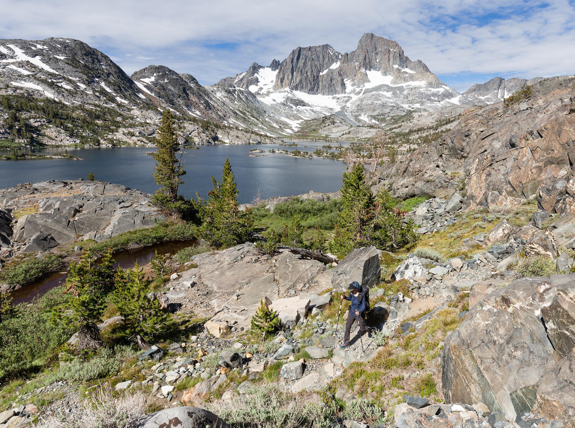 Descending the trail towards Garnet Lake