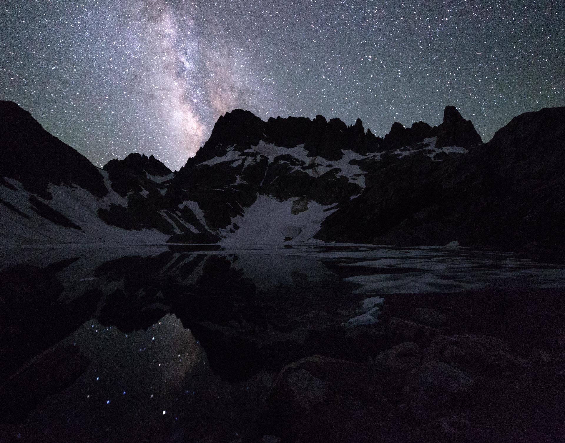 Stars over Iceberg Lake