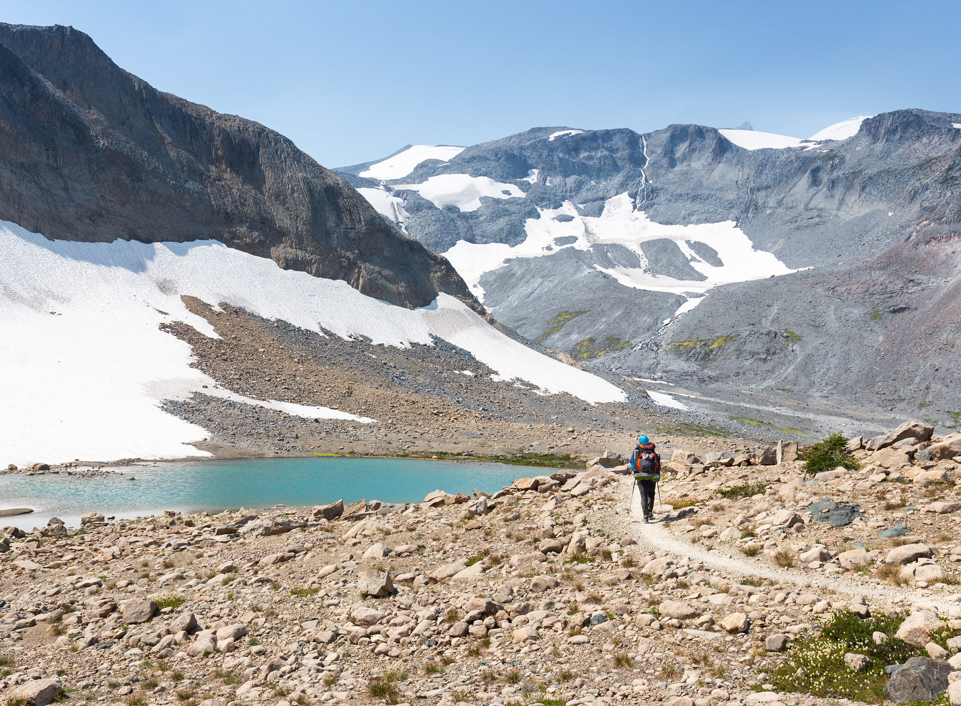 A glacial tarn we passed on the way to Summerland