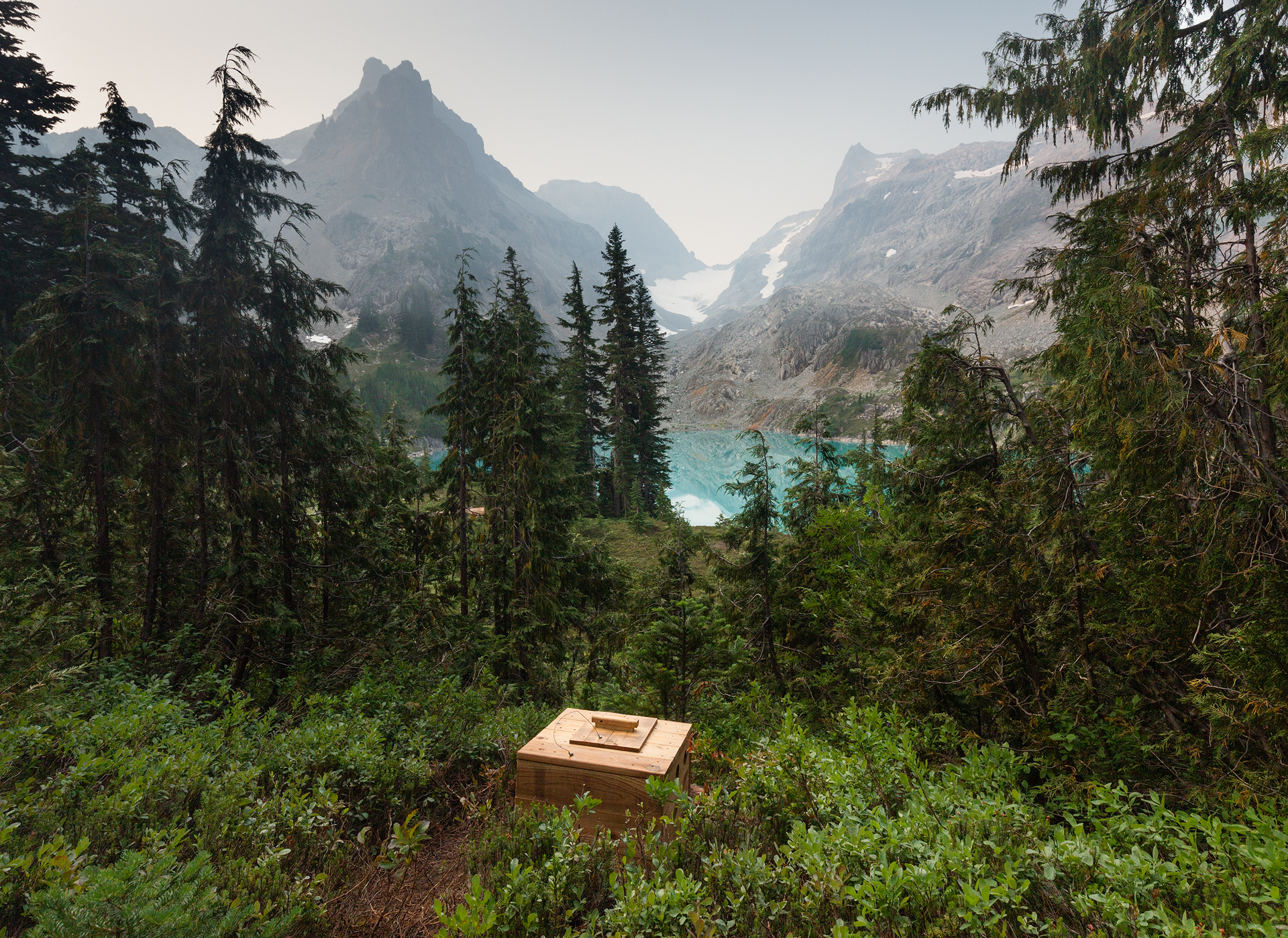 A backcountry toilet with a view (Alpine Lakes Wilderness)