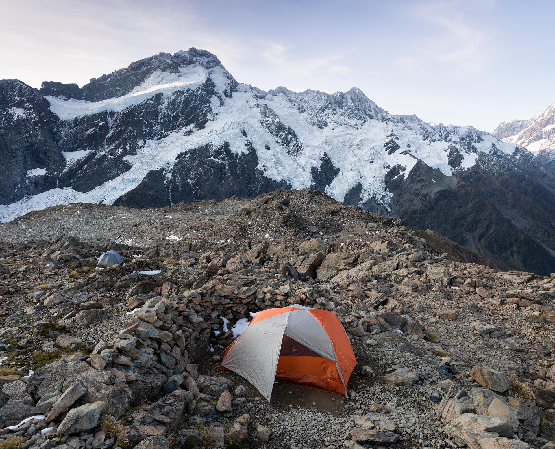 Our camp near Mueller Hut in Aoraki/Mount Cook National Park