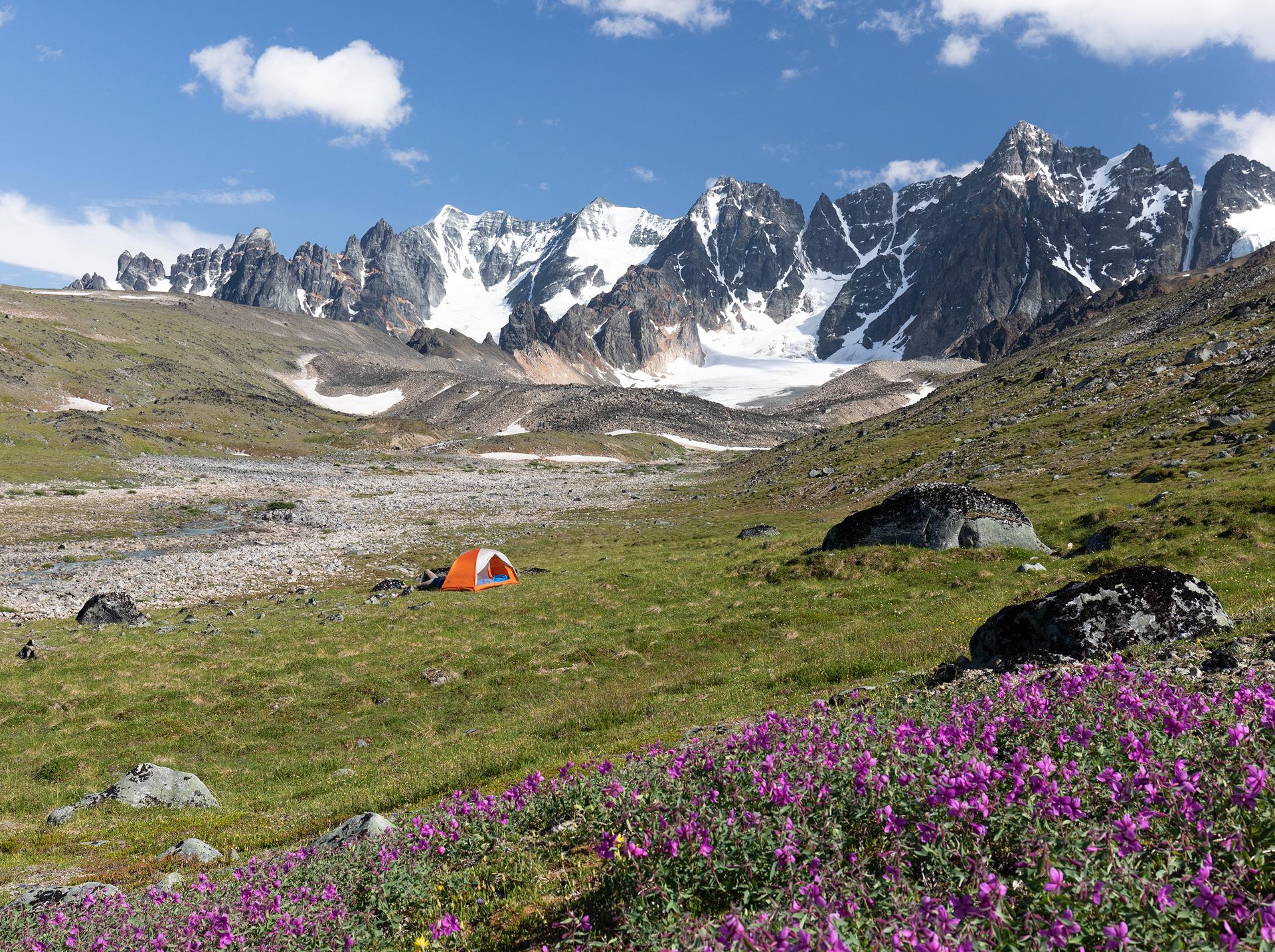 Camp near Telaquana Mountain