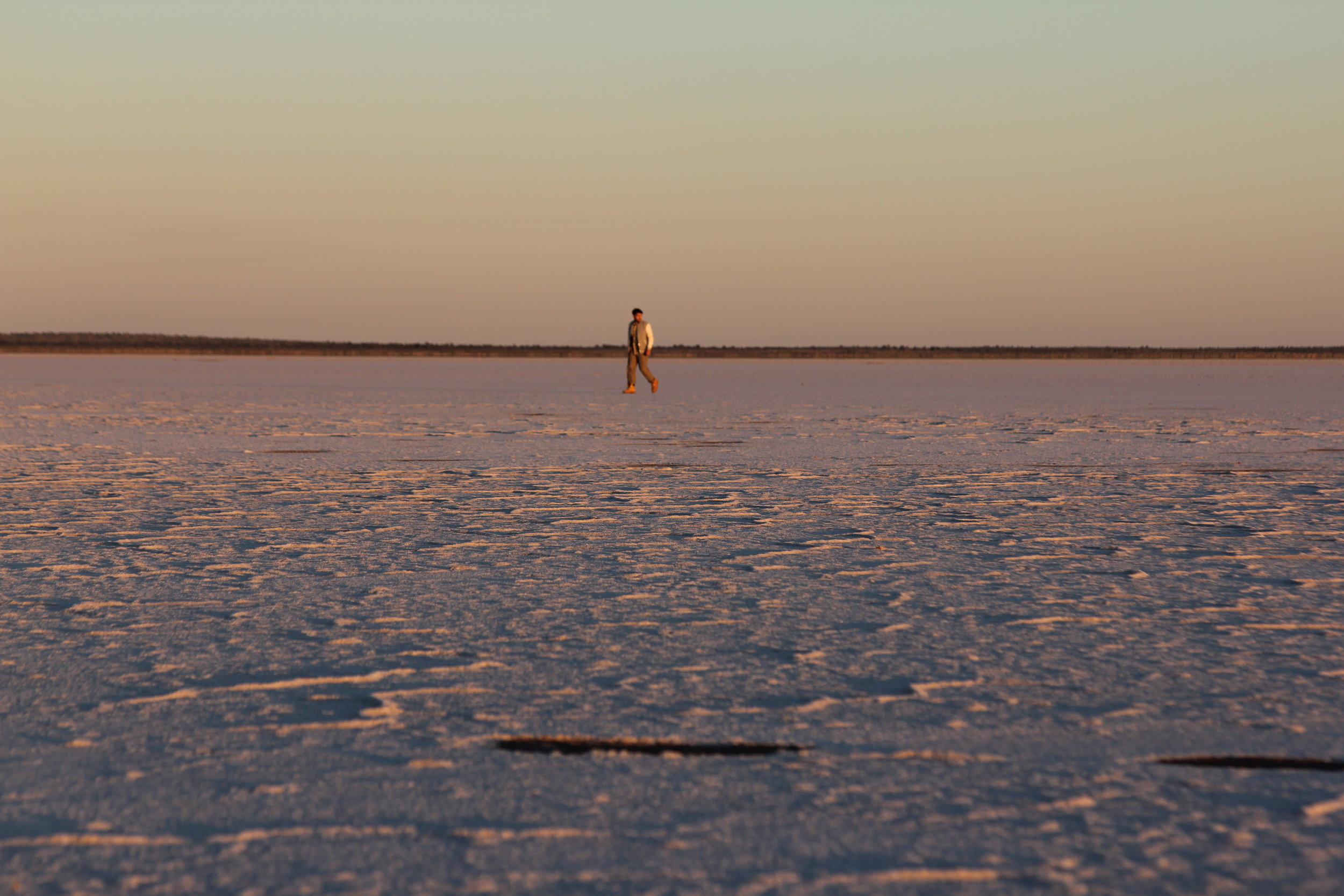 Lake Mackay, a huge salt lake in the heart of the Outback that is sacred to the Aboriginals.