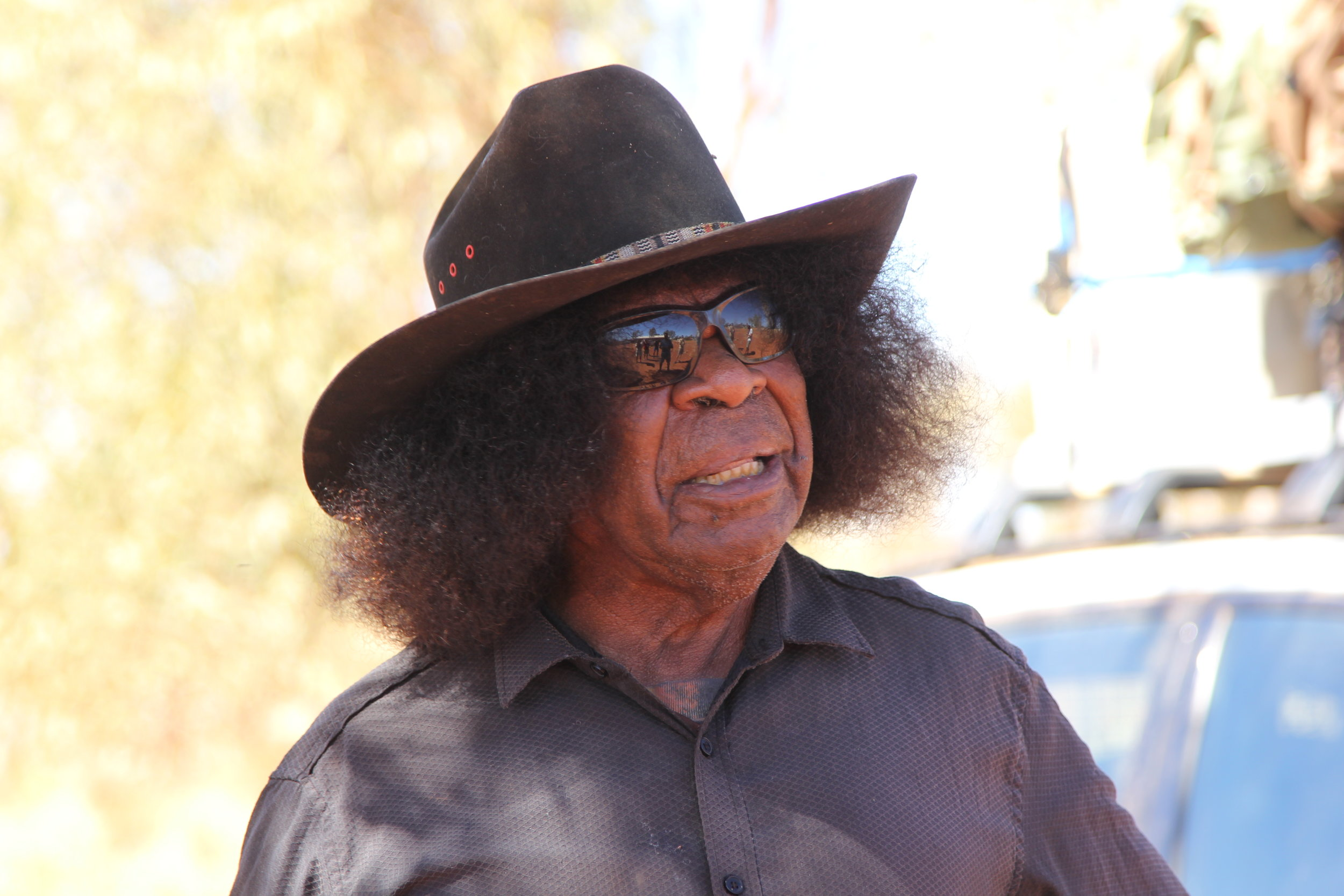 Jimmy Brown, one of the Pintubi Nine, the last Aboriginal group to contact white Australia