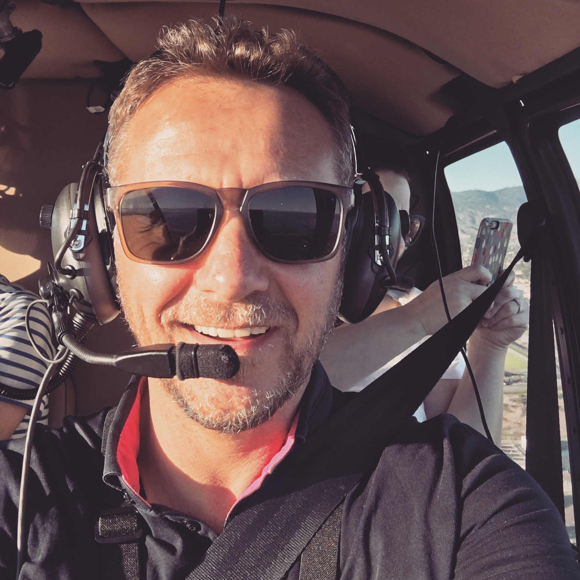 'Piloting' a helicopter in Santa Barbara, 2016