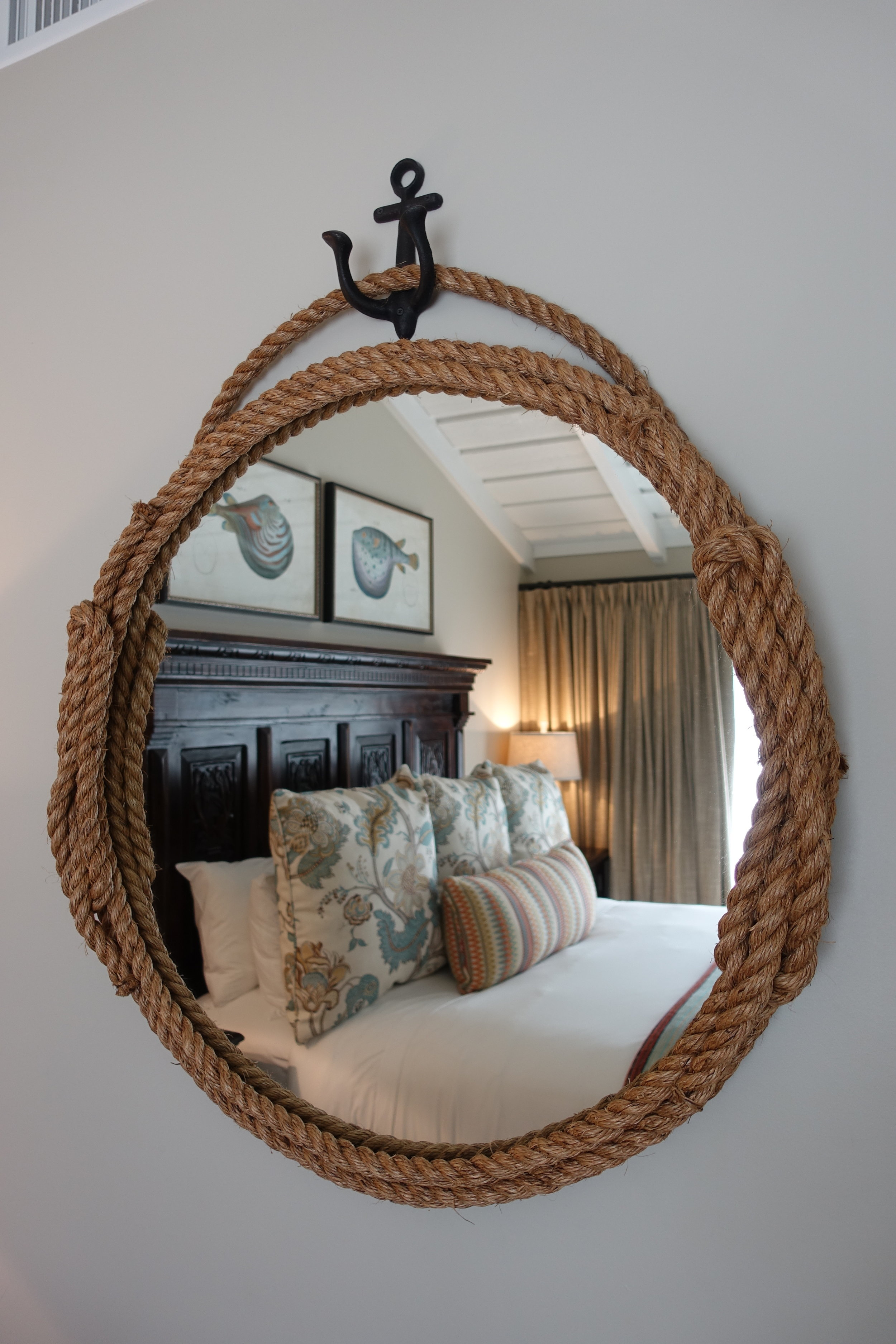 Bedrooms at Laguna Beach are all decorated in an elegant California coastal rustic style