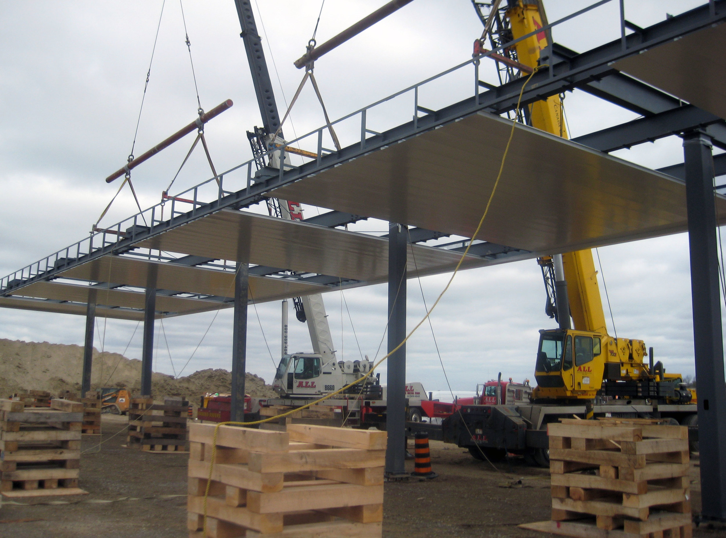 Cranes hanging canopy