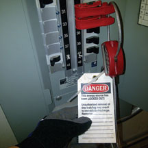 Lock out tag out install on breaker panel