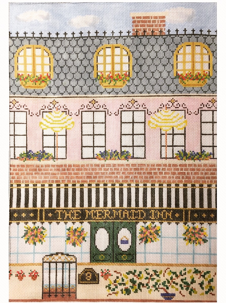 """The Mermaid Inn 15I   13""""x9"""" on 18 mesh  *Stitch Guide Available"""