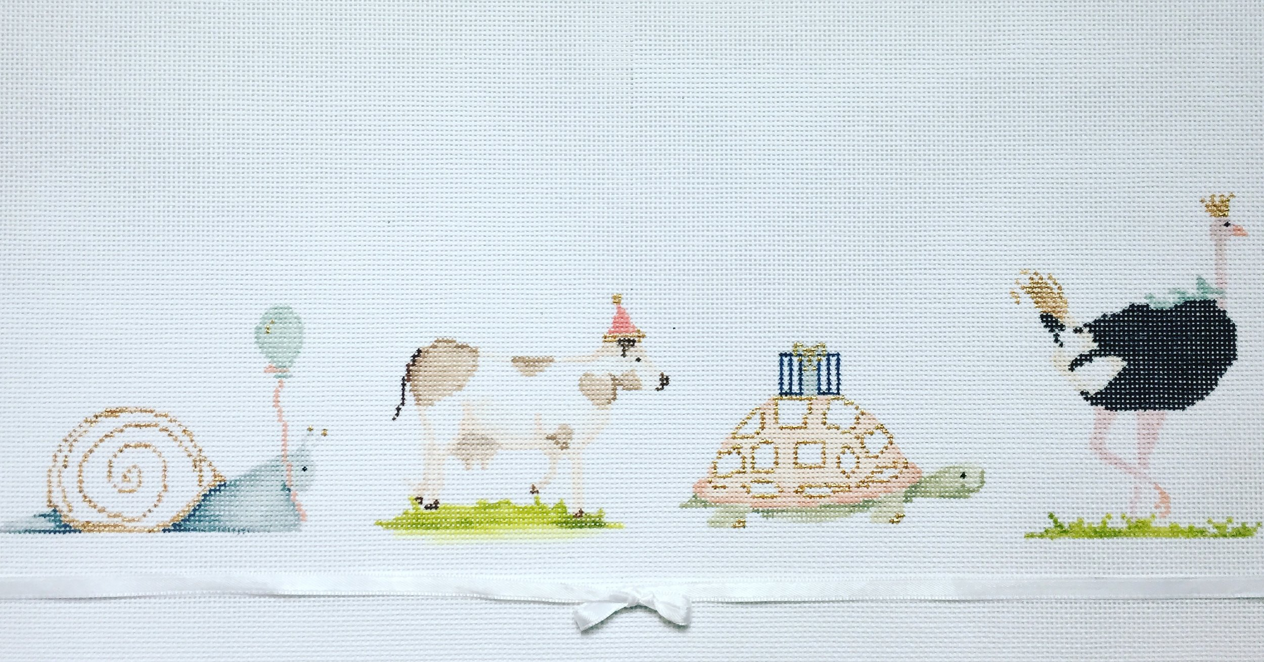 """Party Animals 15EE   15""""x6"""" on 18 or 13 mesh"""