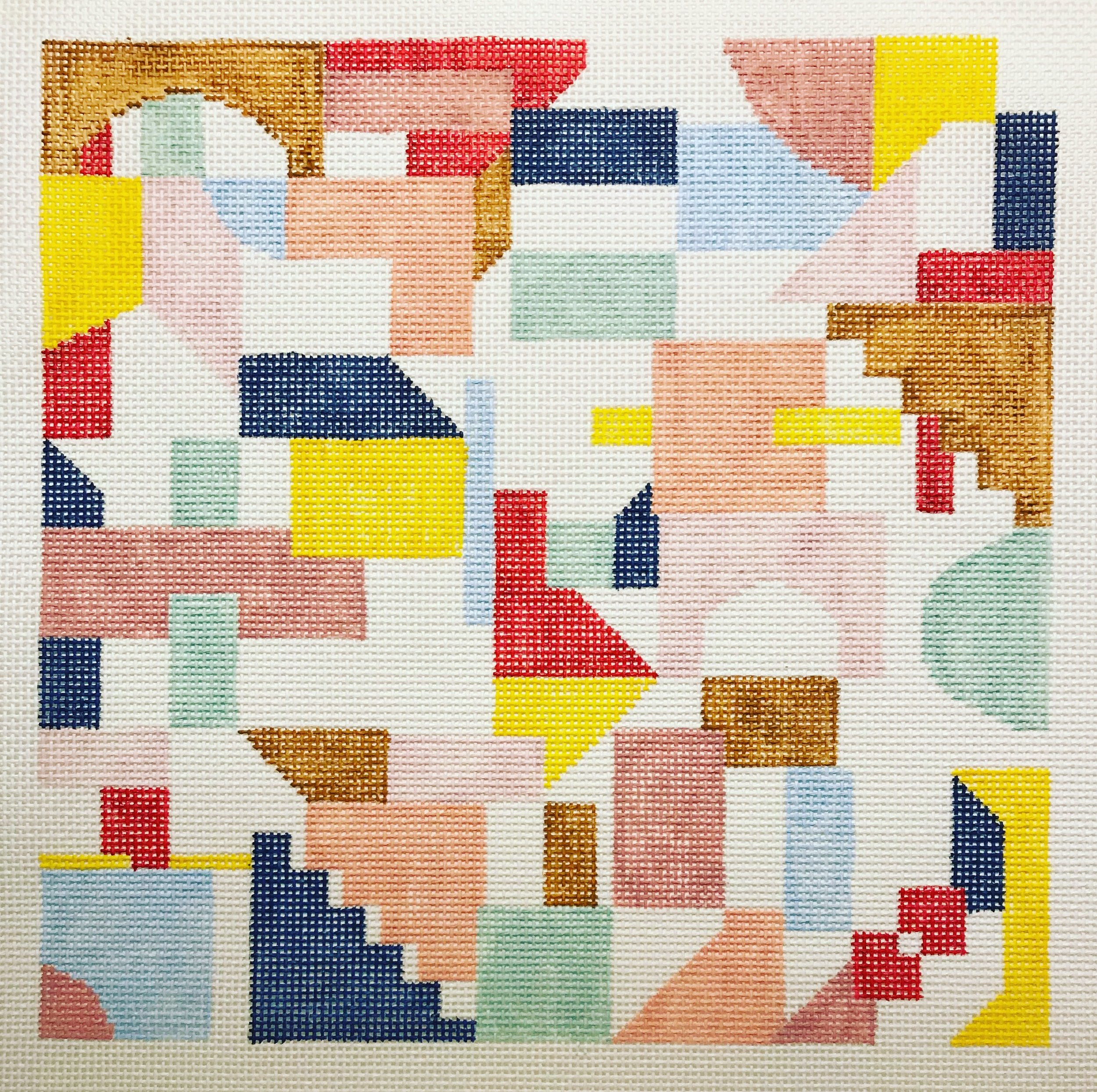 "Color Blocks 15KK-4   10"" x 10"" on 13 mesh"