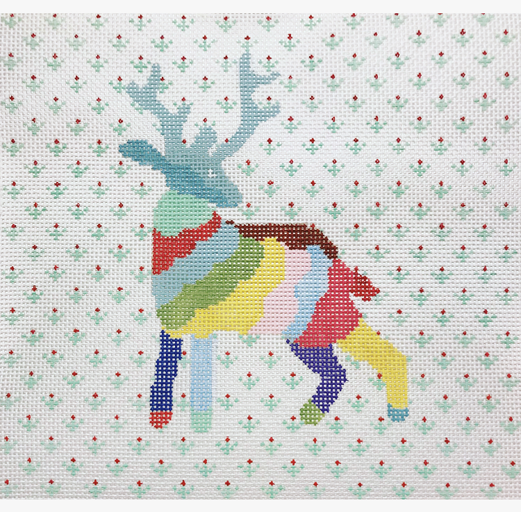 """Rainbow Stag CP-3D   9"""" x 8.5"""" on 13 mesh"""